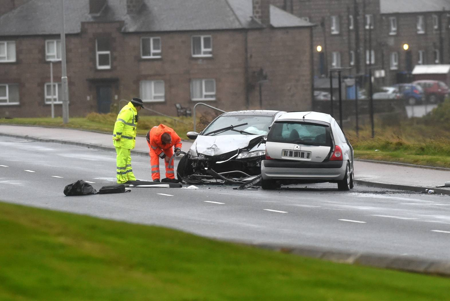 The crash happened on South Road in Peterhead.