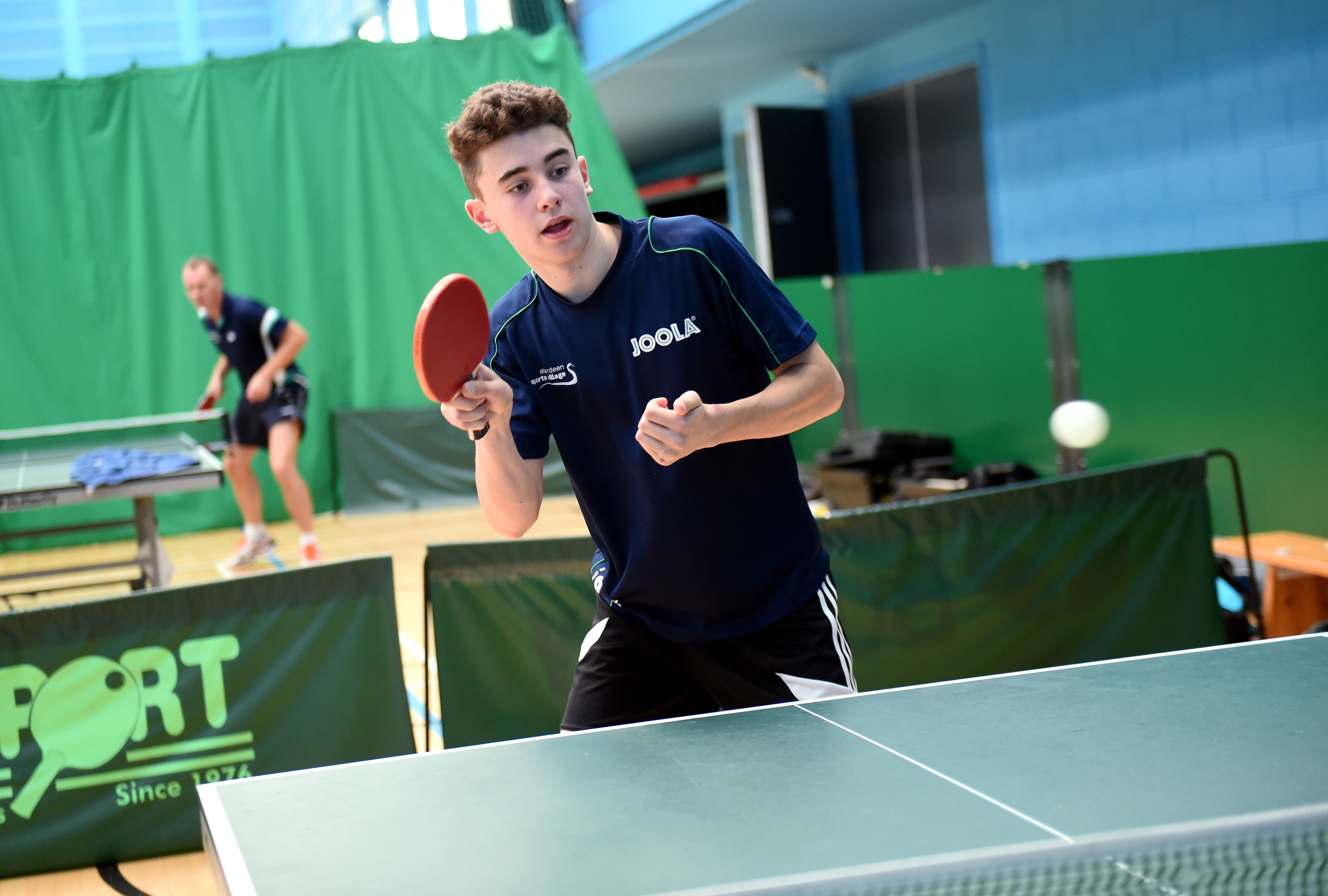 Murray Gauld, who plays at the table tennis club.