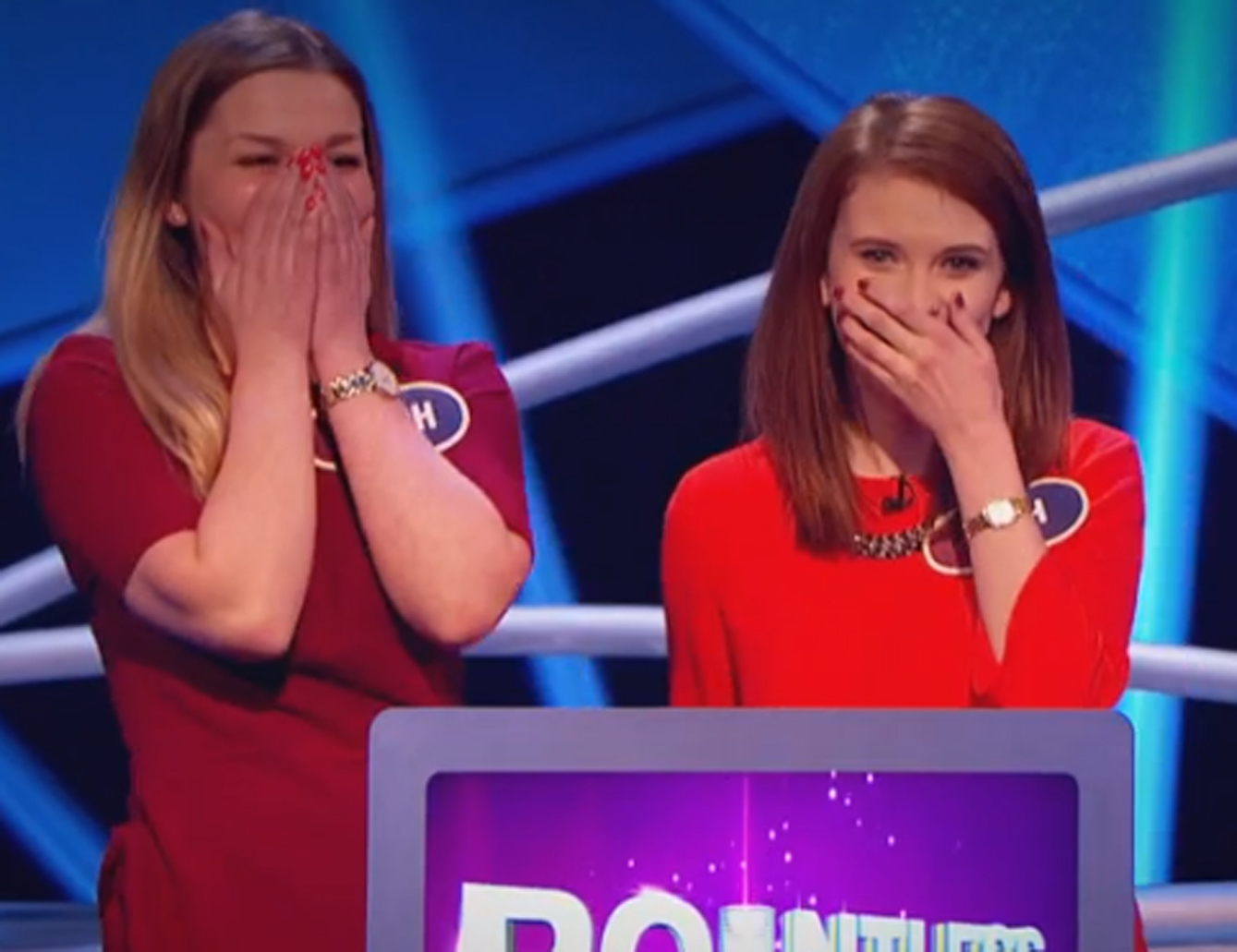 Stephanie, left, and Beth, right, won £11,250 on the popular gameshow.