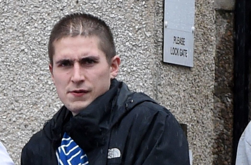 Hans Reid admitted assaulting and robbing a man at knife-point in August.
