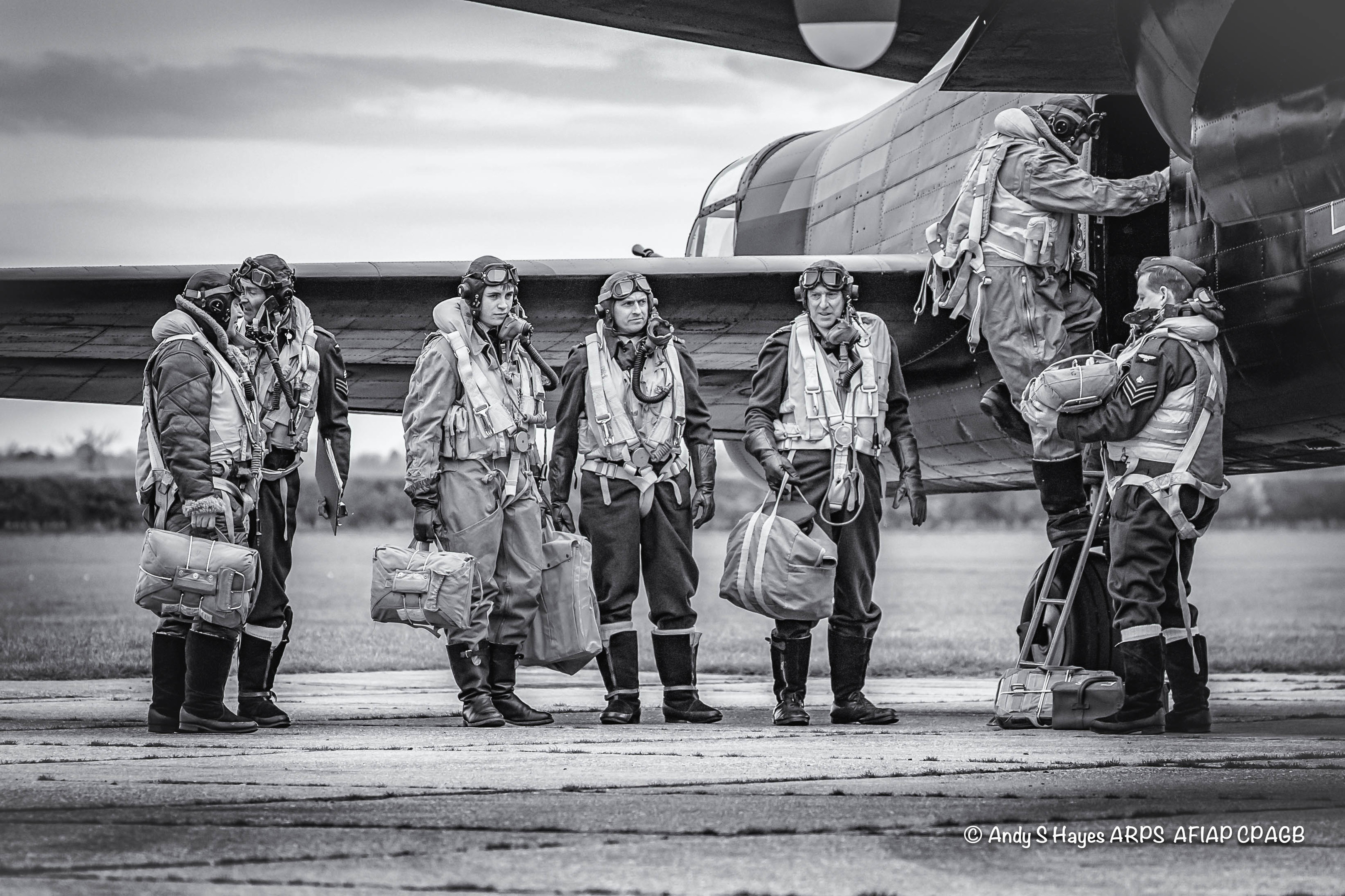 RAF: 'Dark Night Ahead' shows a British crew boarding an aircraft.  pictures by andy hayes.
