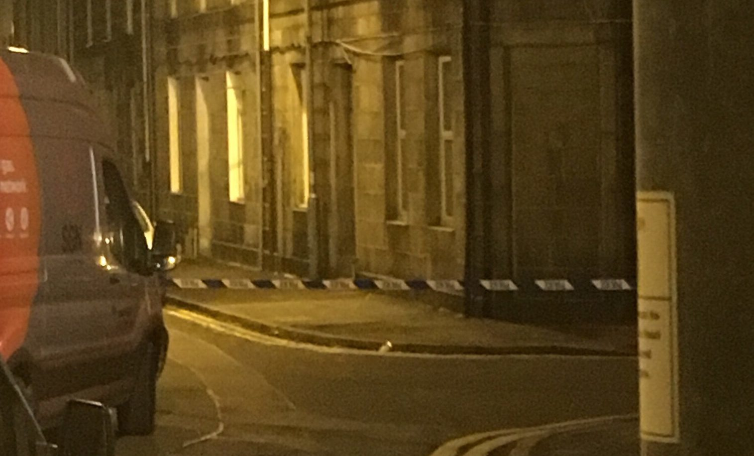 Holland Street was taped off by Police Scotland.