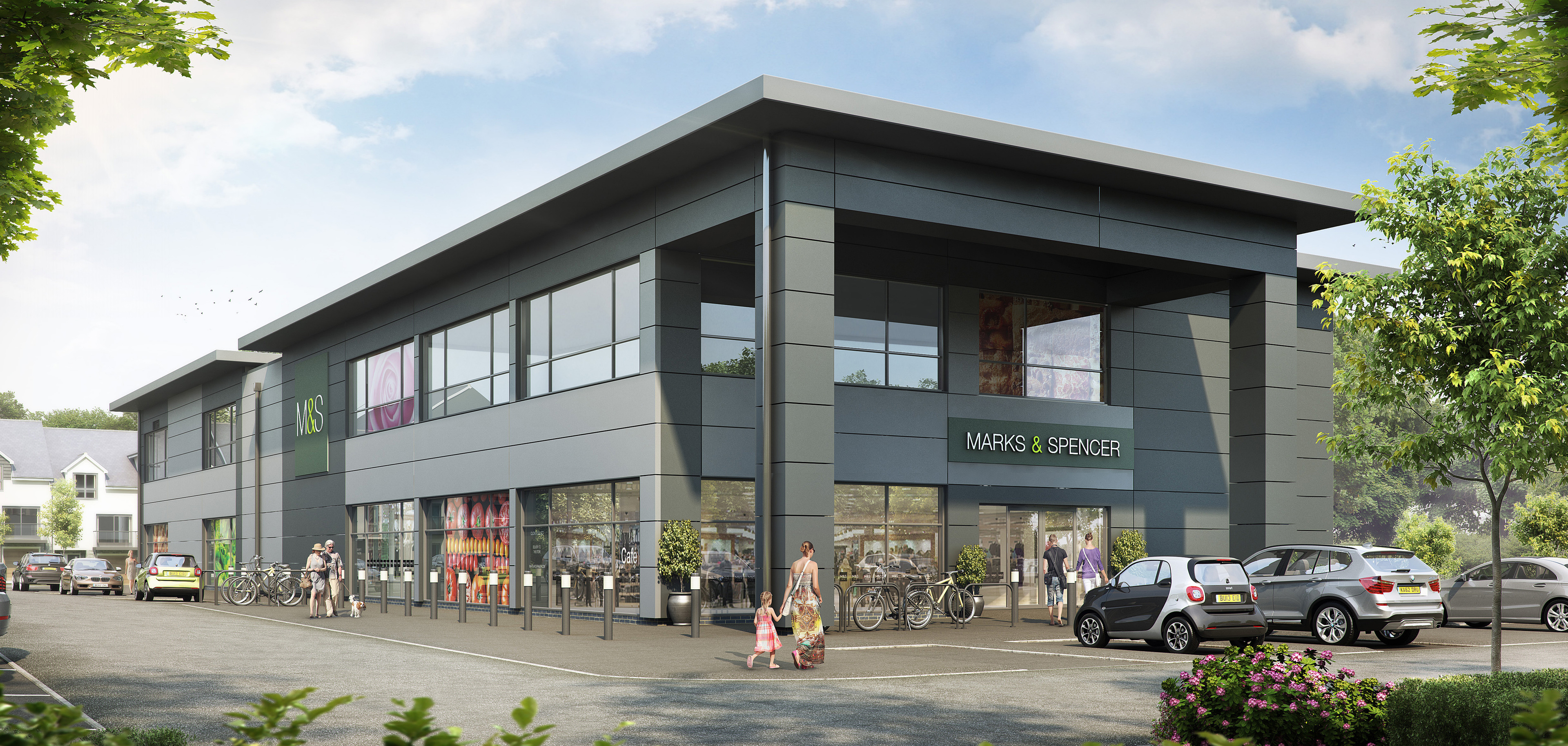 An artist's impression of the new Simply Food store in Stoneywood.