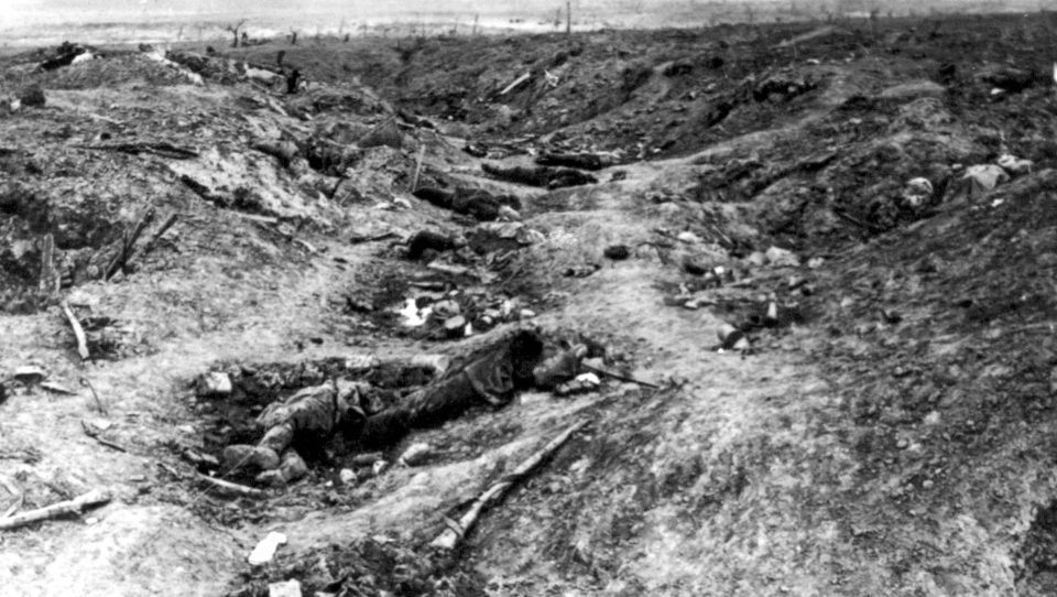German trenches in Guillemont