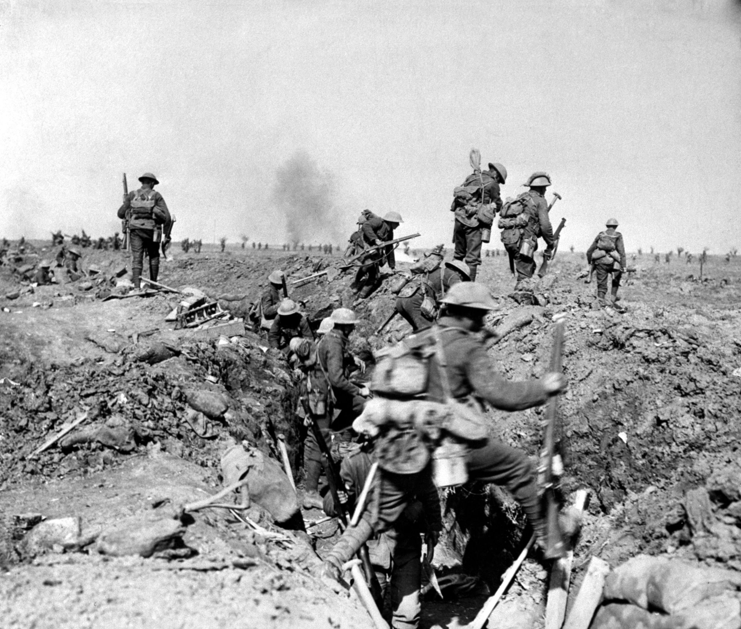 Troops advancing near Ginchy