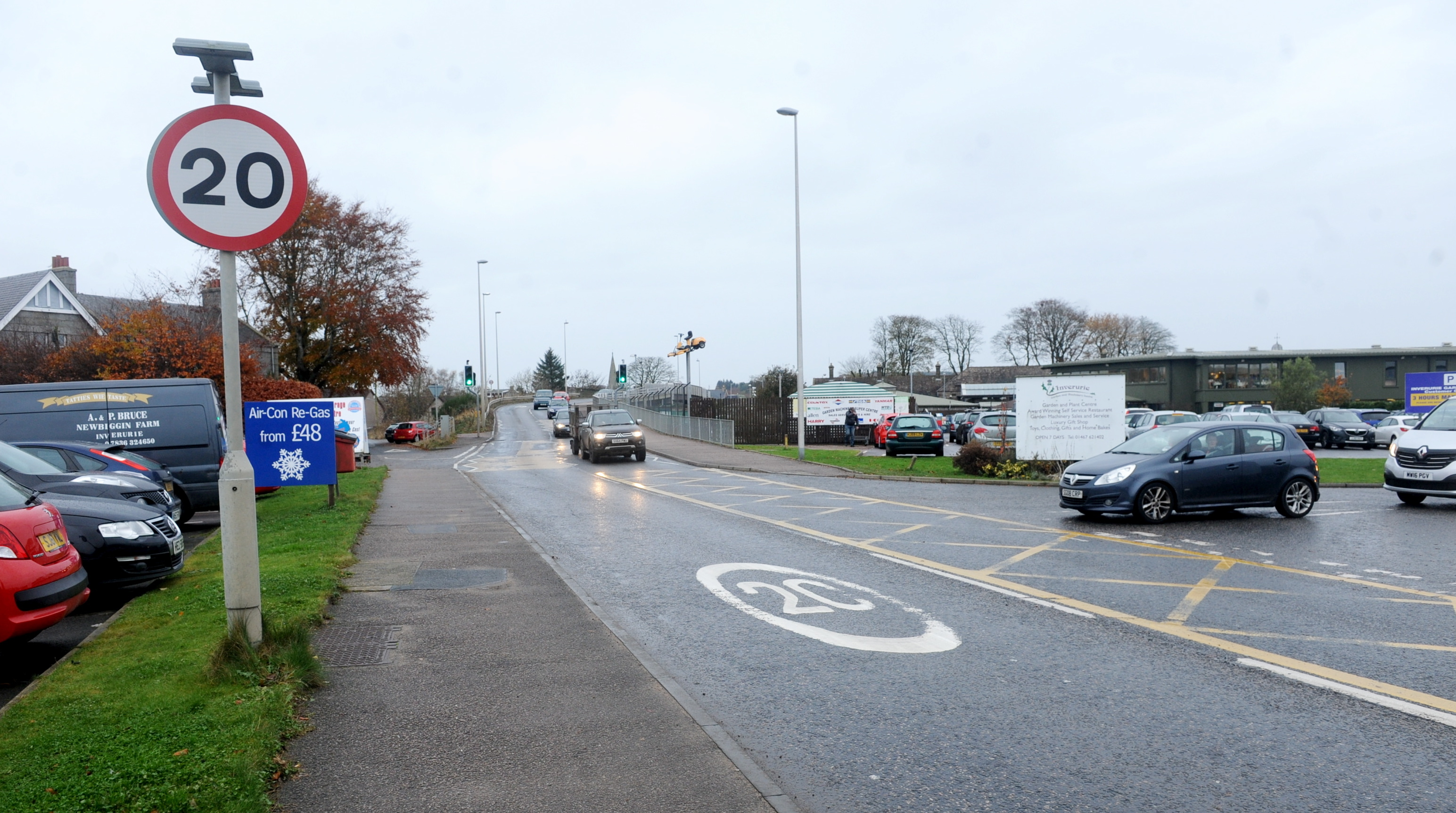 RESTRICTION: An existing 20mph zone in Inverurie. picture by chris sumner