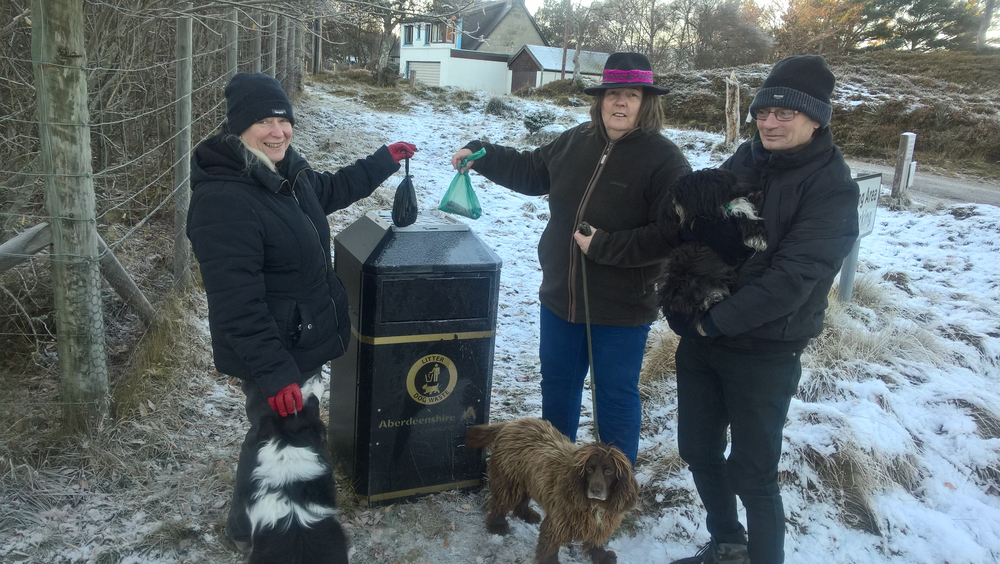 Councillor Geva Blackett, middle, wants more done about dog fouling.