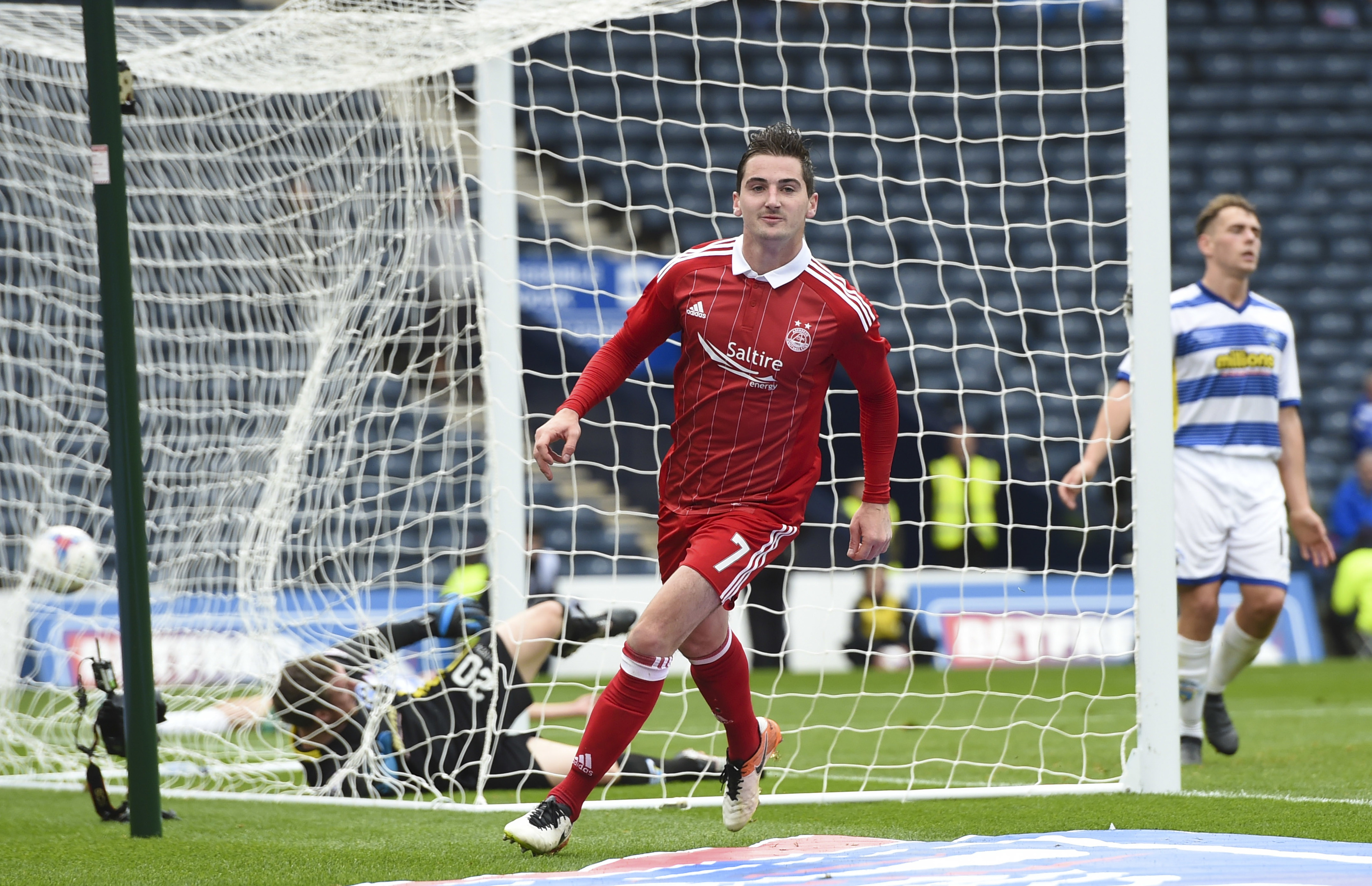FINAL chance:     Kenny McLean celebrates his goal against Morton in the semi-final at Hampden.
