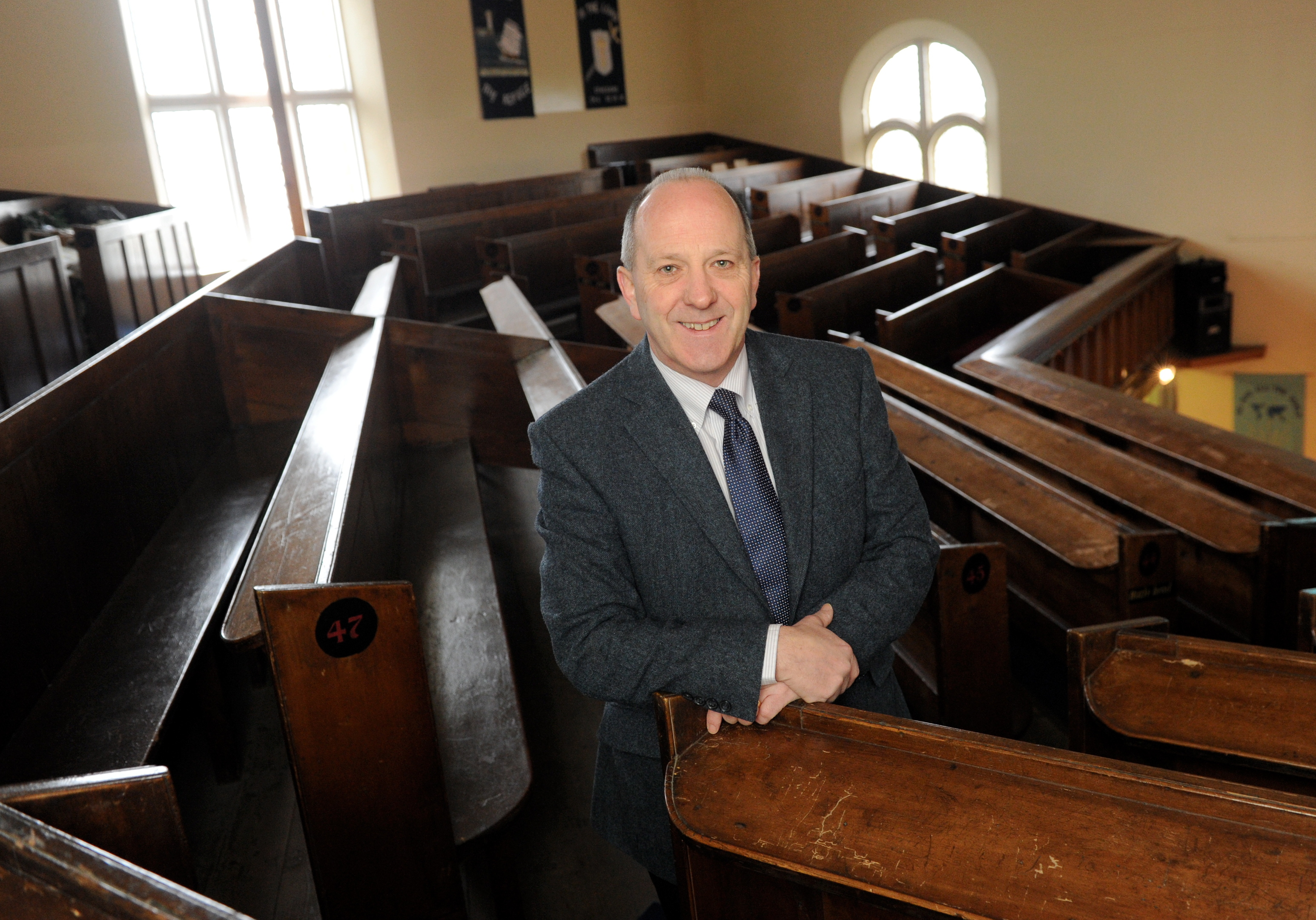 Welcome:  Reverend Hugh Wallace came up with the idea to invite the refugees.