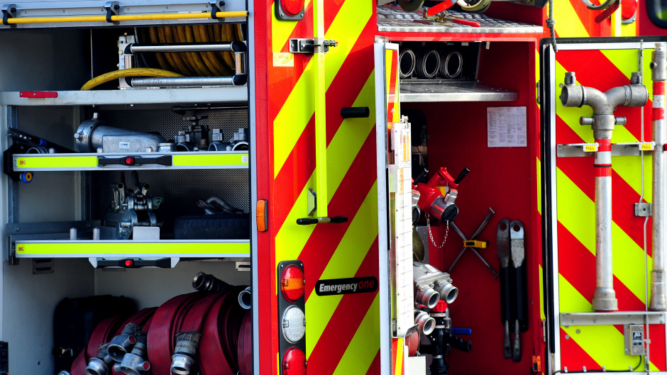Fire crews attended a garage fire at Bridge of Don tonight