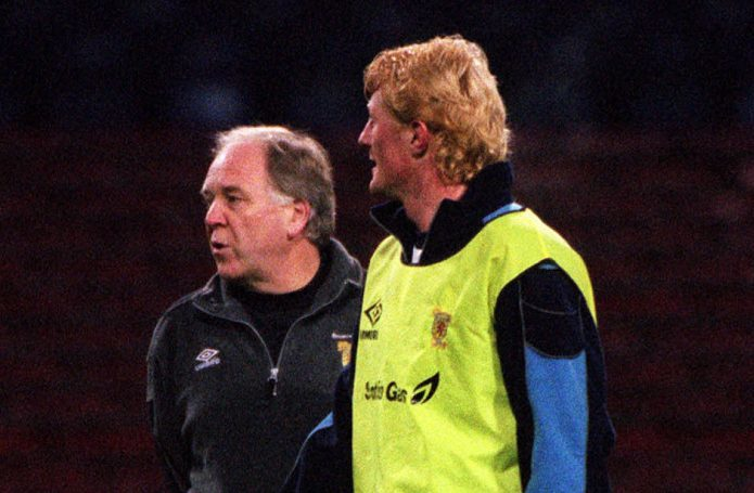 Craig Brown, pictured left, plotted a Wembley win with skipper Colin Hendry.