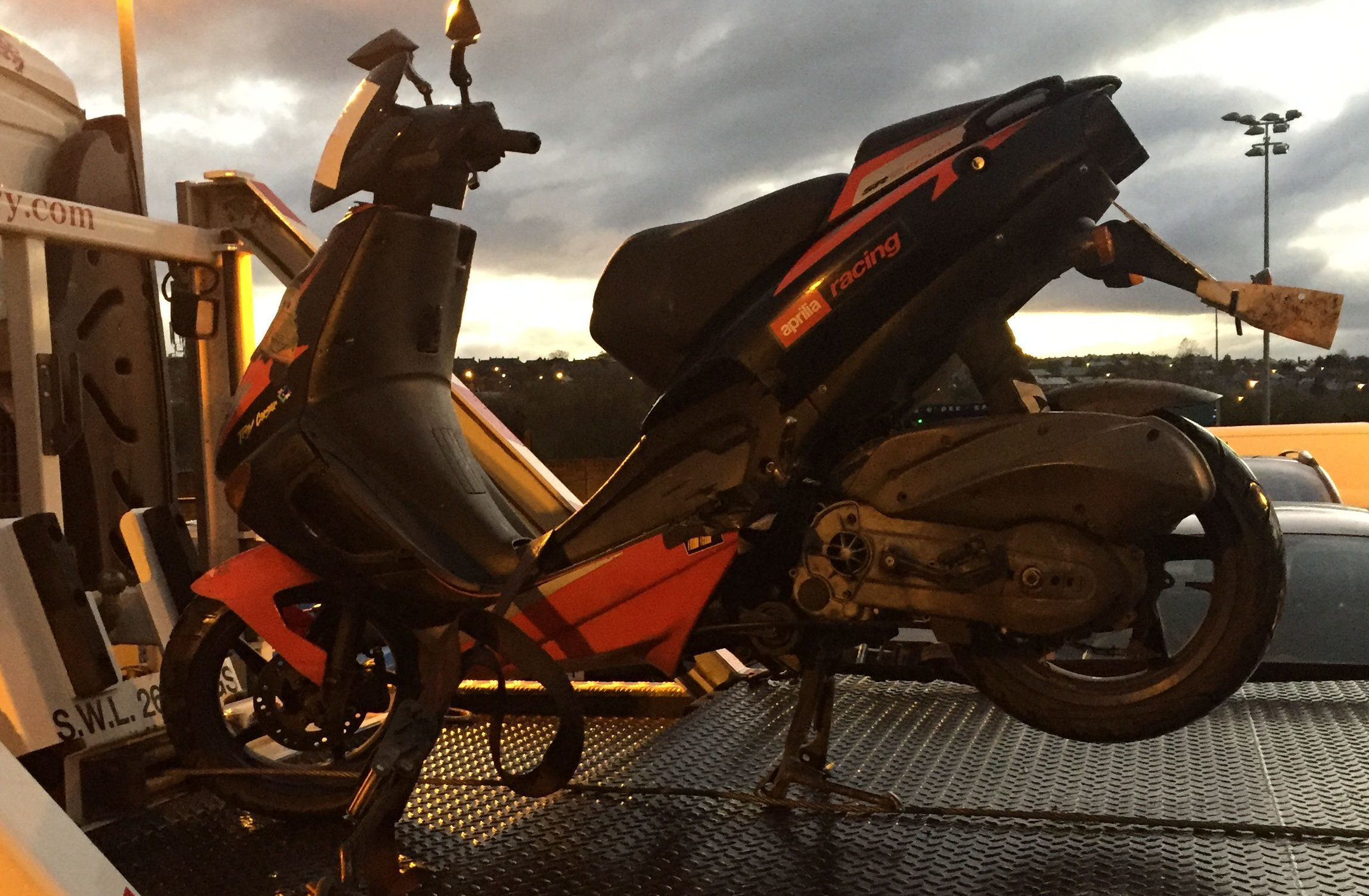 The seized moped