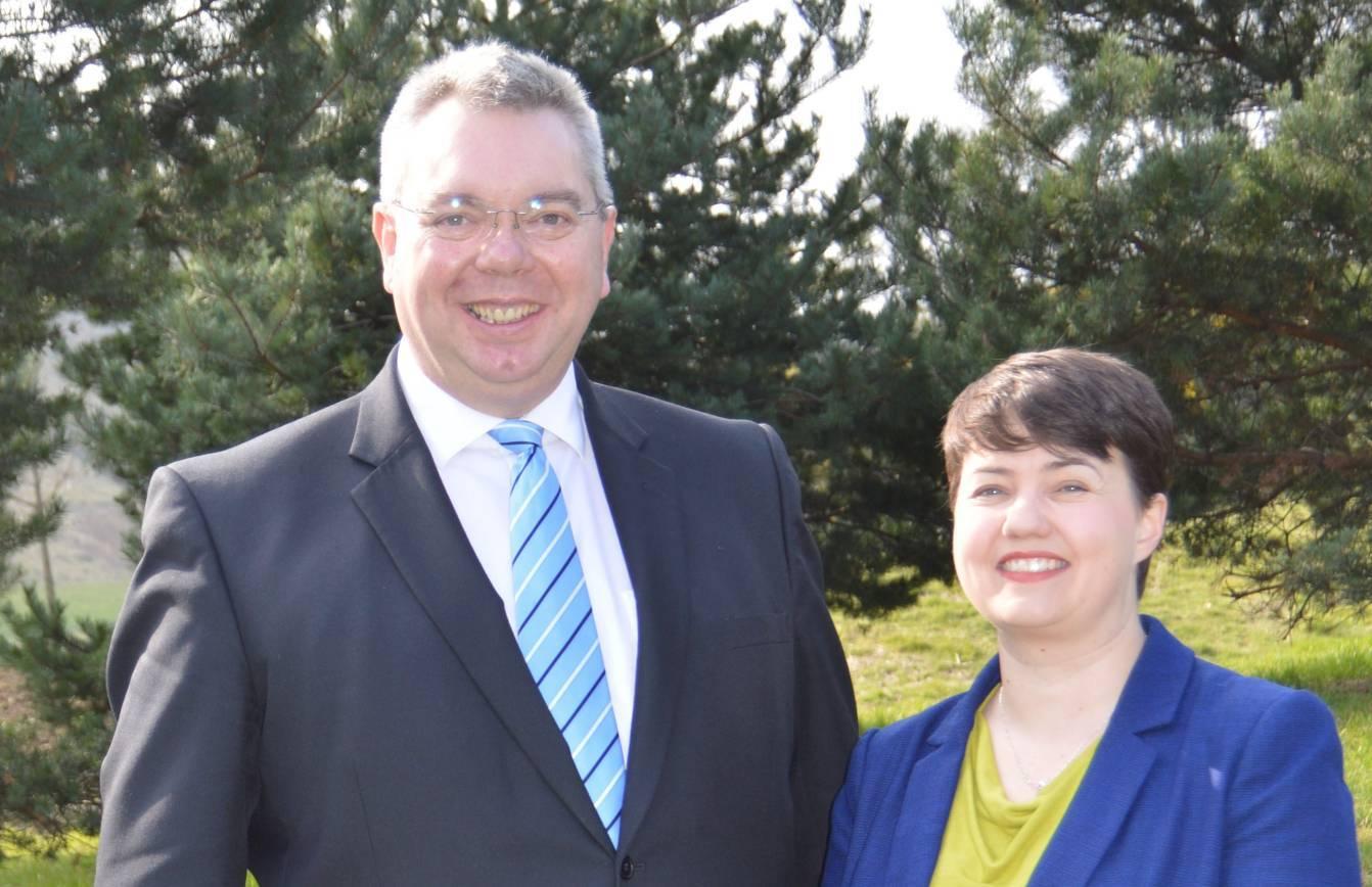North-east MSP Alex Johnstone with Ruth Davidson.