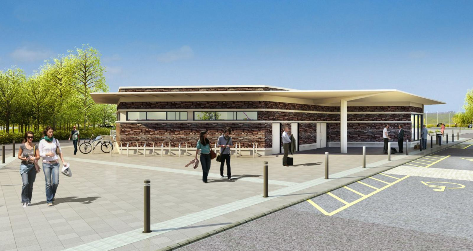 An artist impression of the proposed Park and Ride facilities