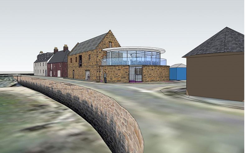 Design:  An artist's impression of the renovated Tolbooth Museum in Stonehaven.