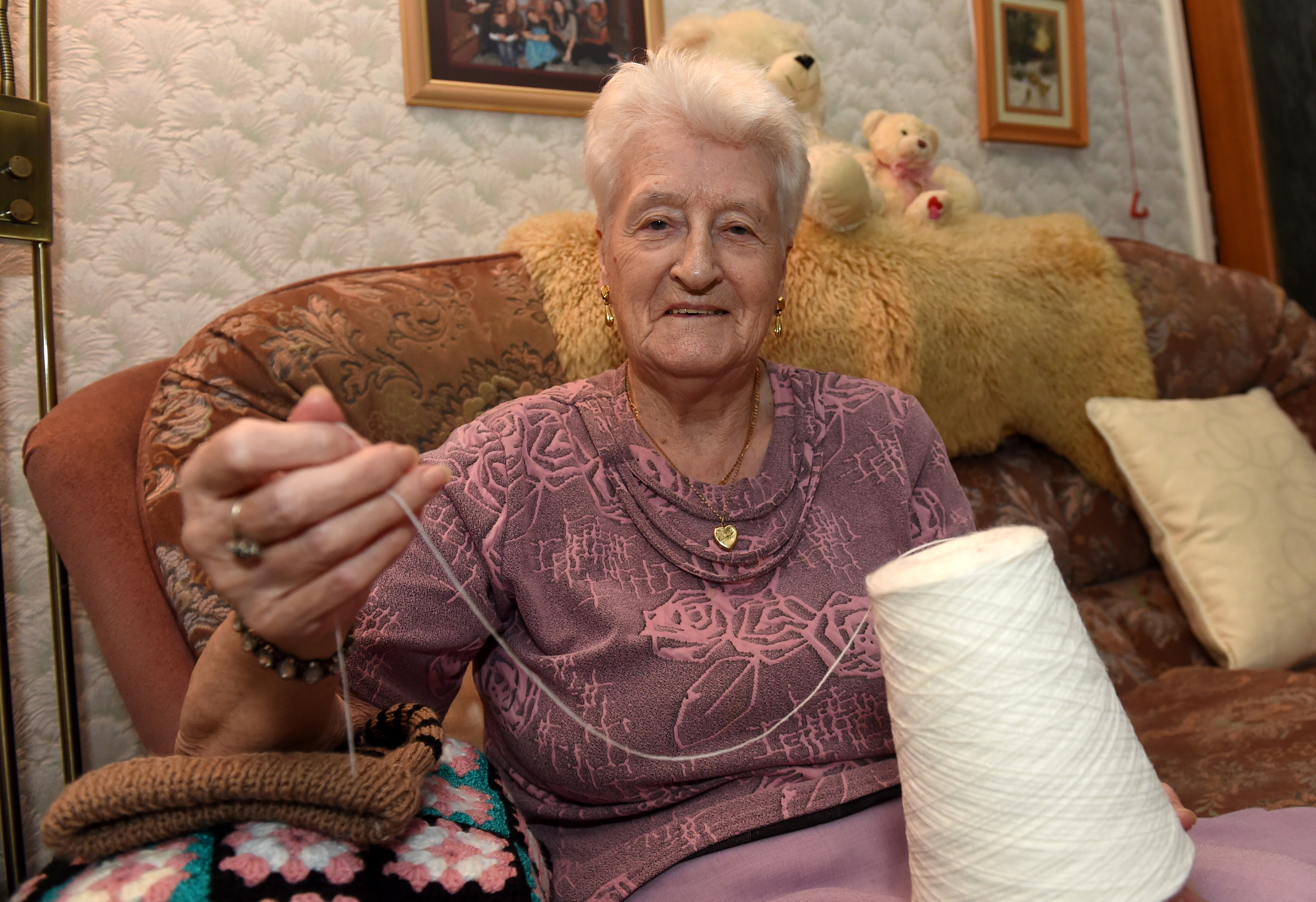 89-year-old Margaret has knitted all of her life.