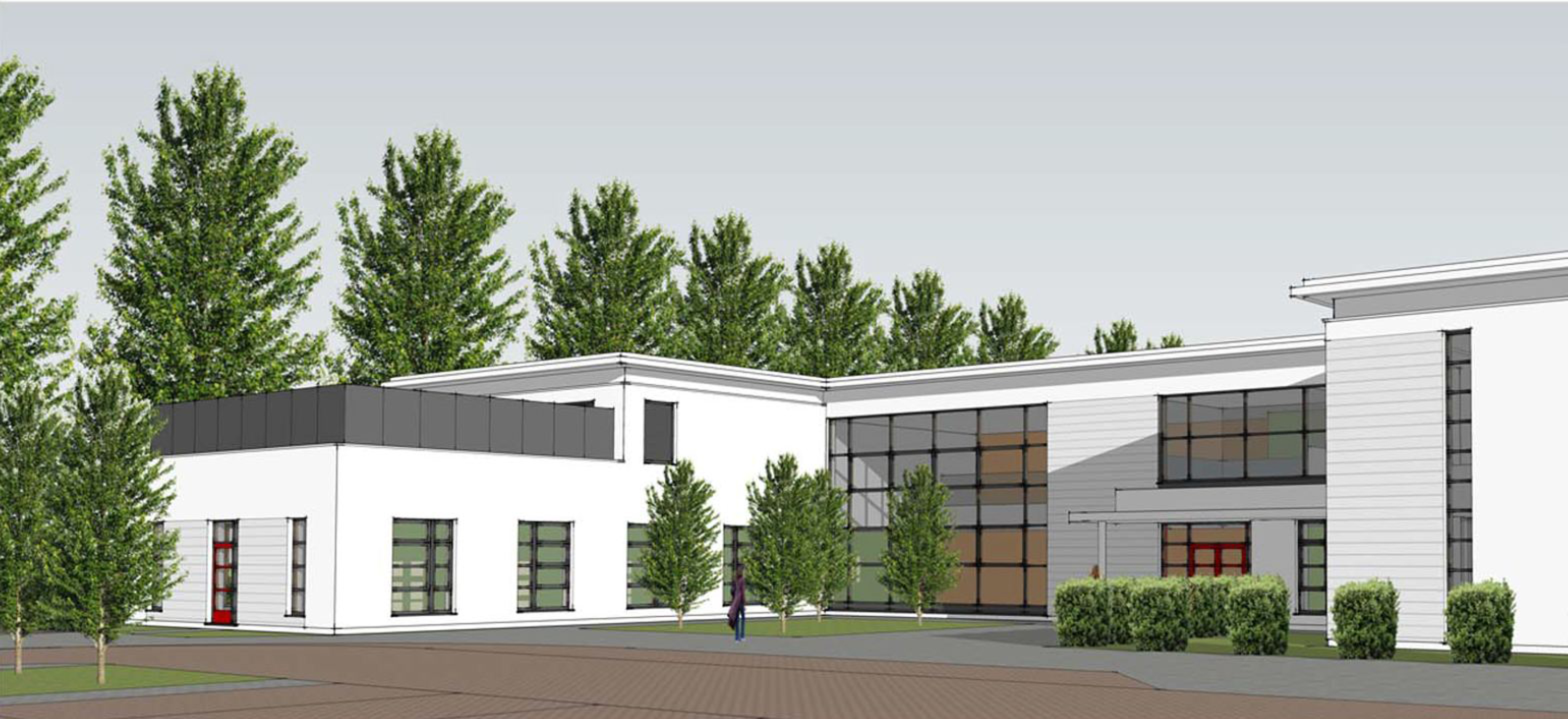 An artist's impression of the  new health centre in Inverurie.