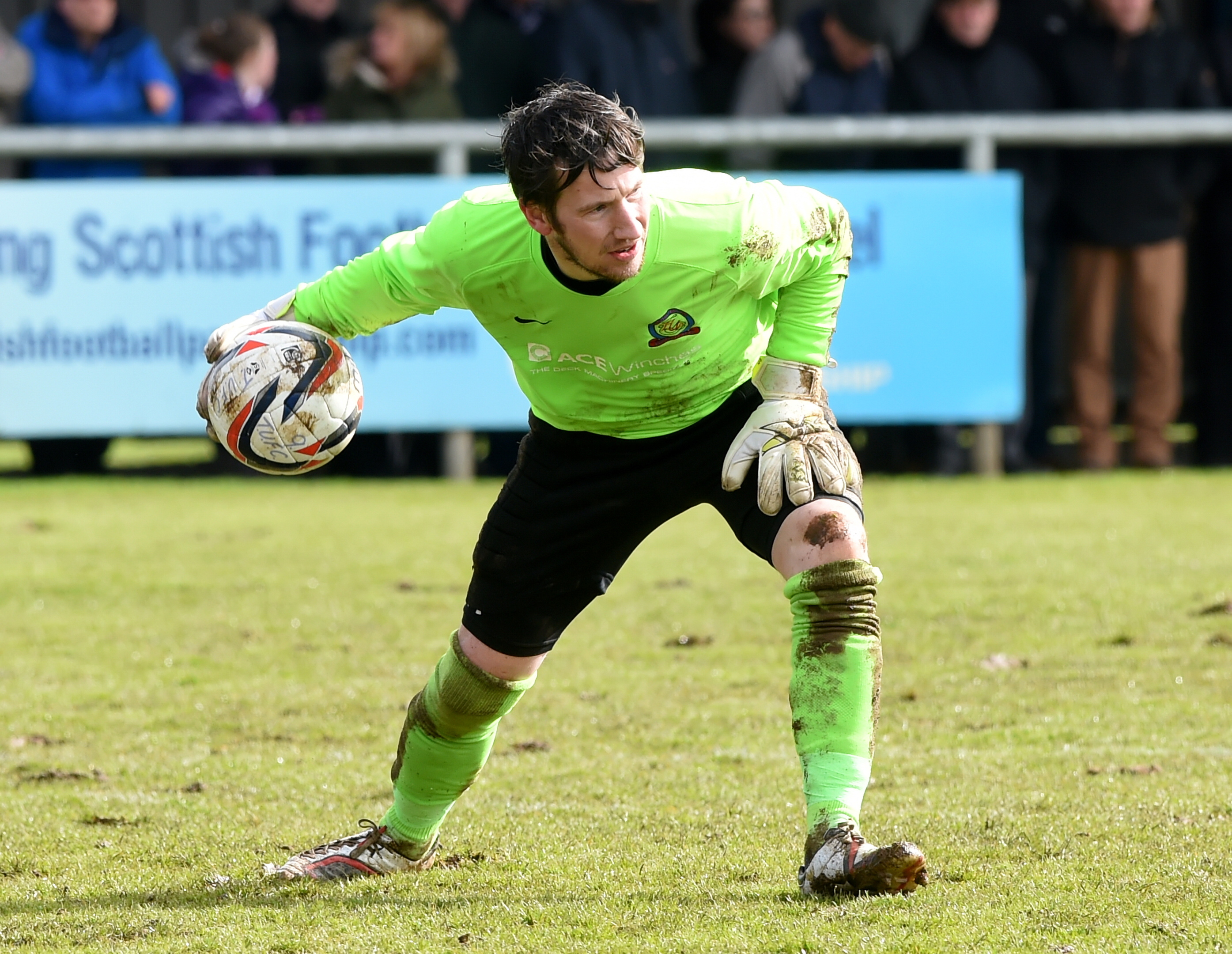 Turriff goalkeeper Kevin Main.