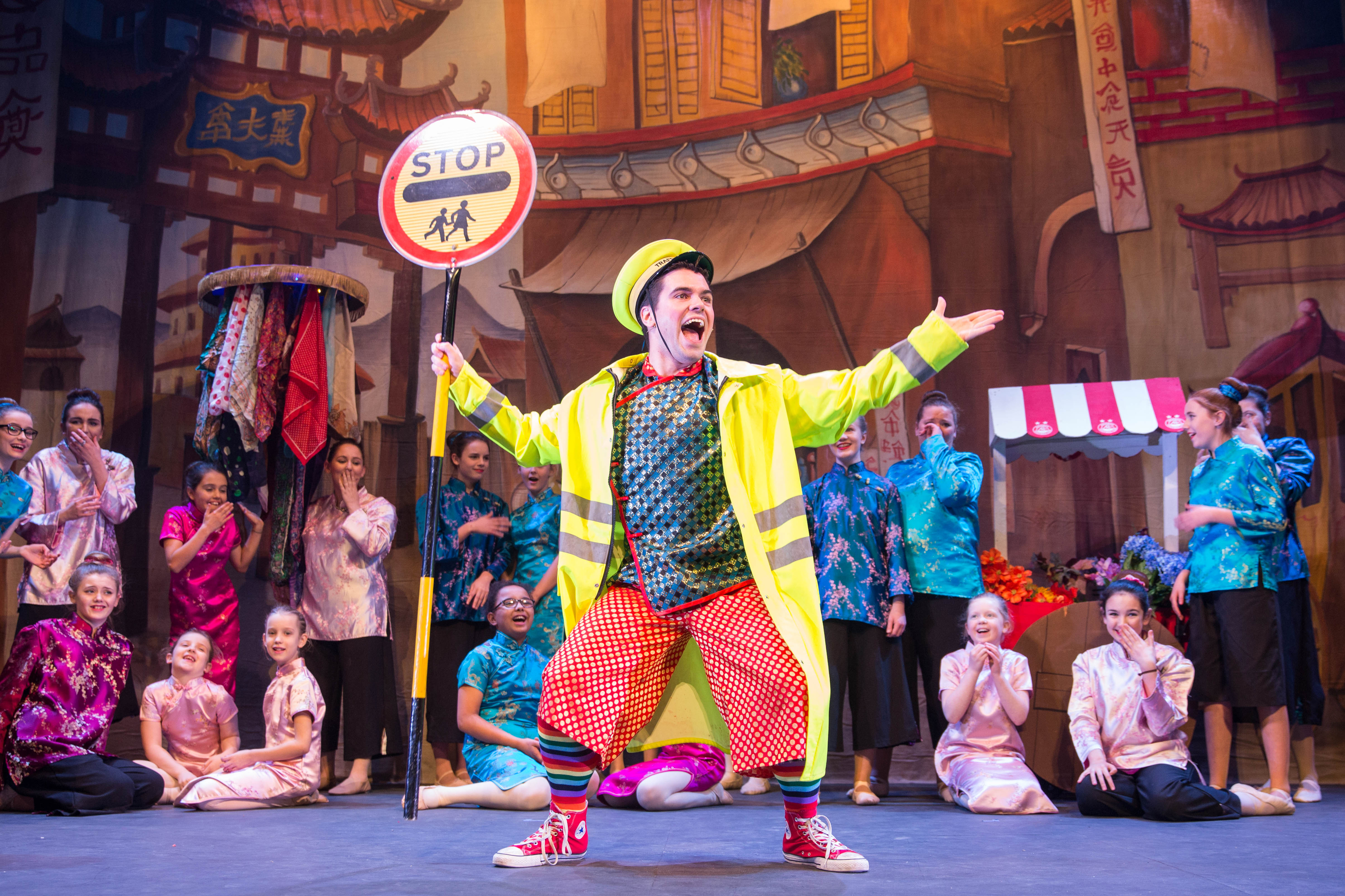 Wishee Washee, played by Micky Innes, in Aladdin at the Tivoli.