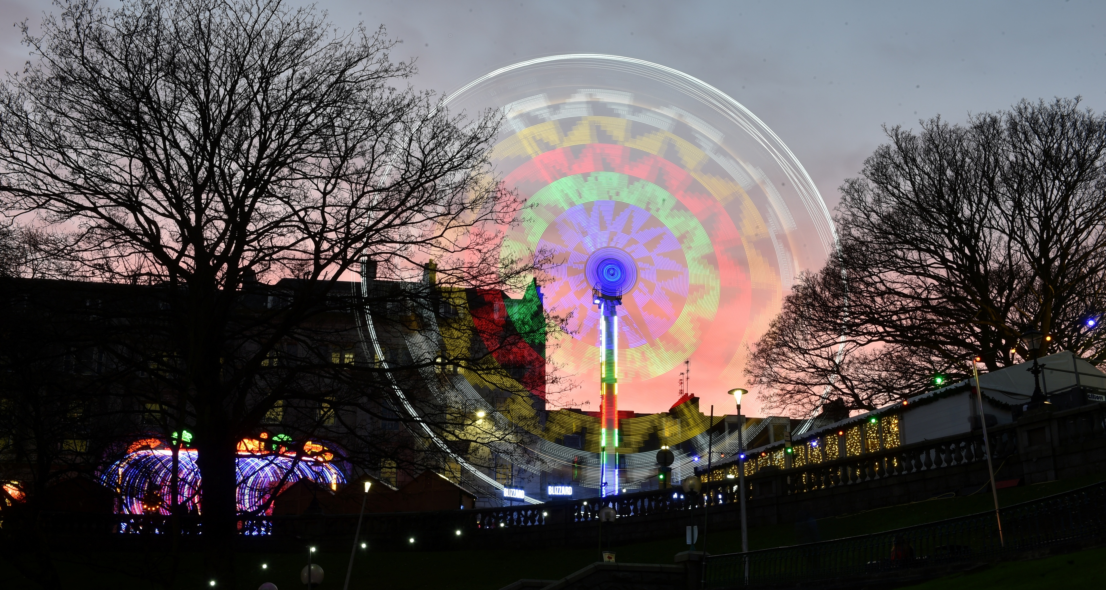 The attractions on Union Terrace