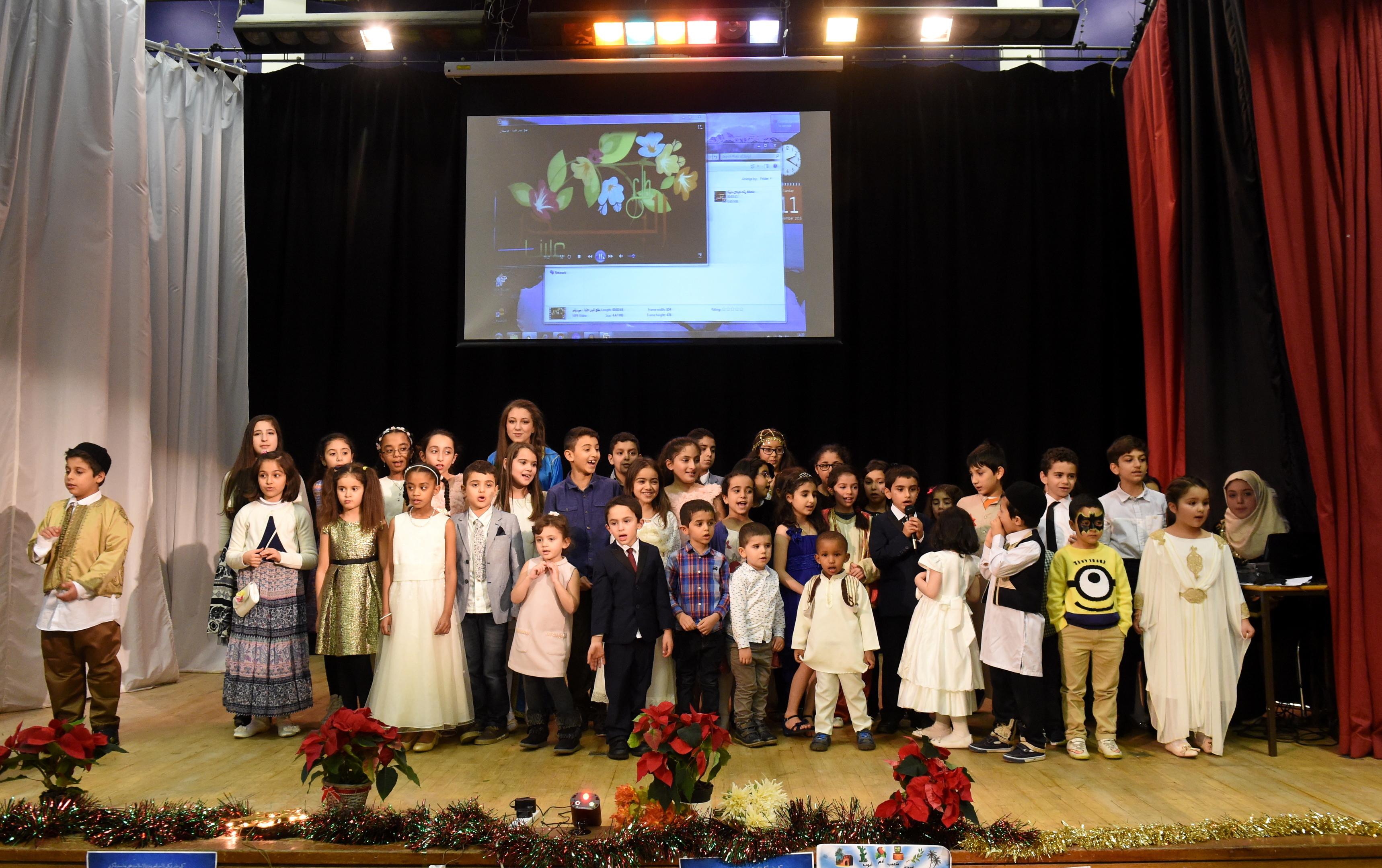 Children  involved in the  celebration at the Smithfield Road centre.