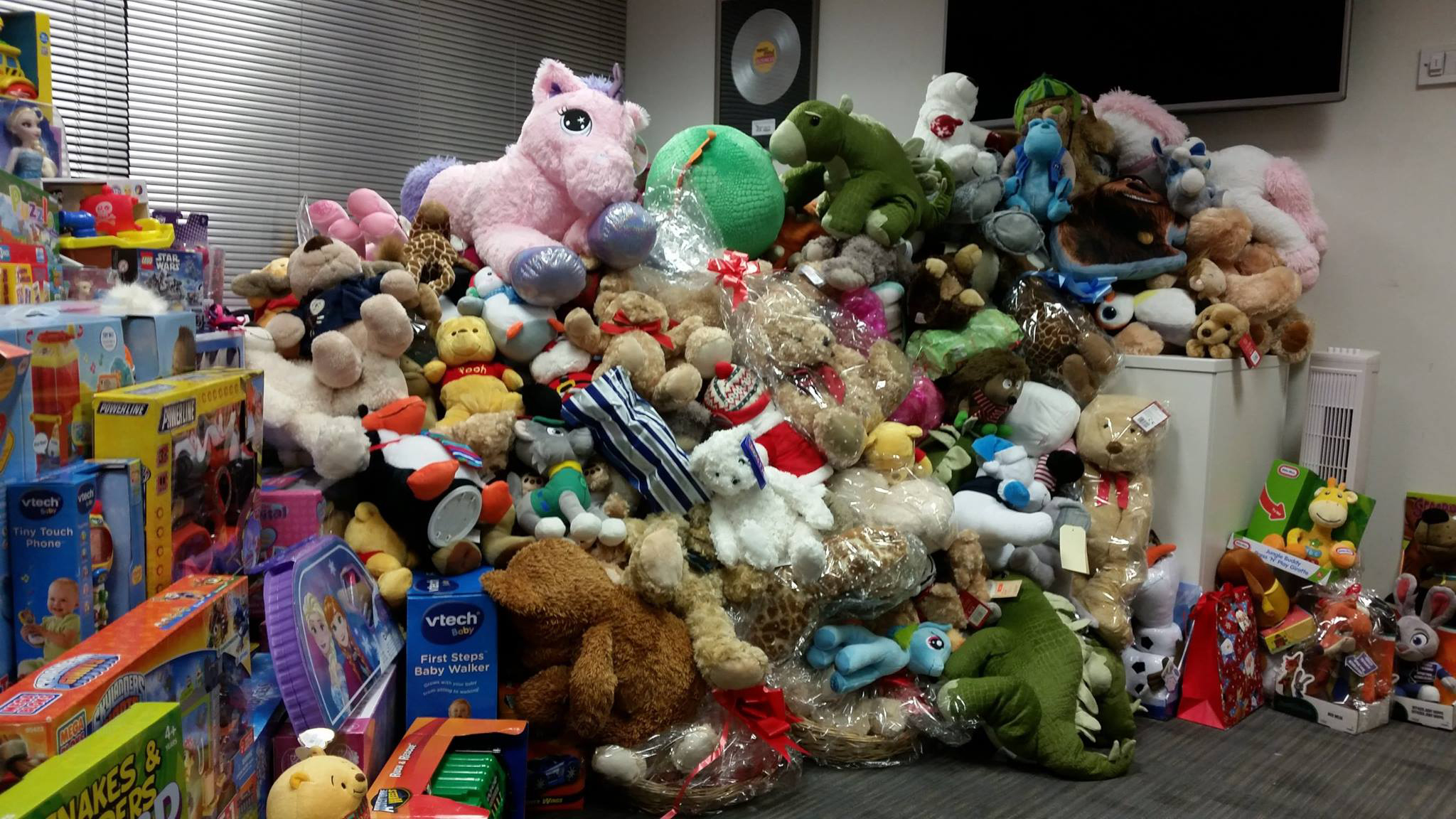 Toys collected for Original 106's appeal.
