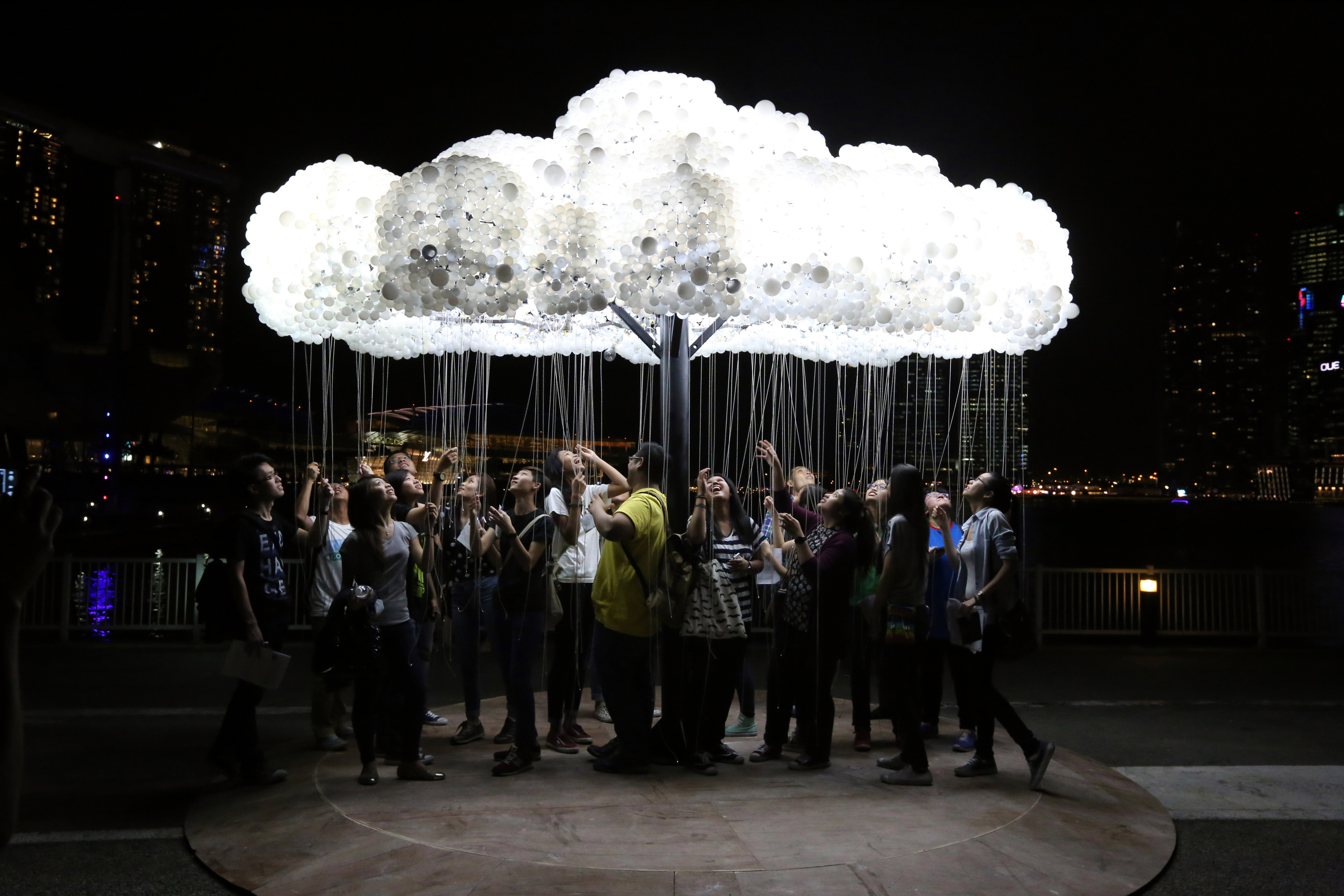 The CLOUD display was at this year's SPECTRA festival.