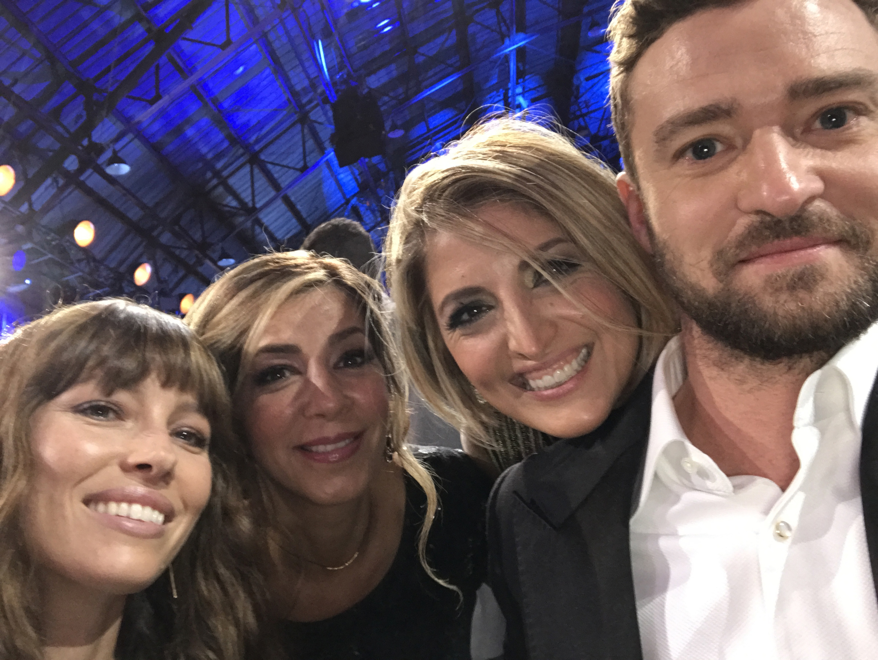 Moji Shand, second right, with Jessica Biel, far left, friend  Farrah Zamani Tauvaa, and Justin Timberlake.