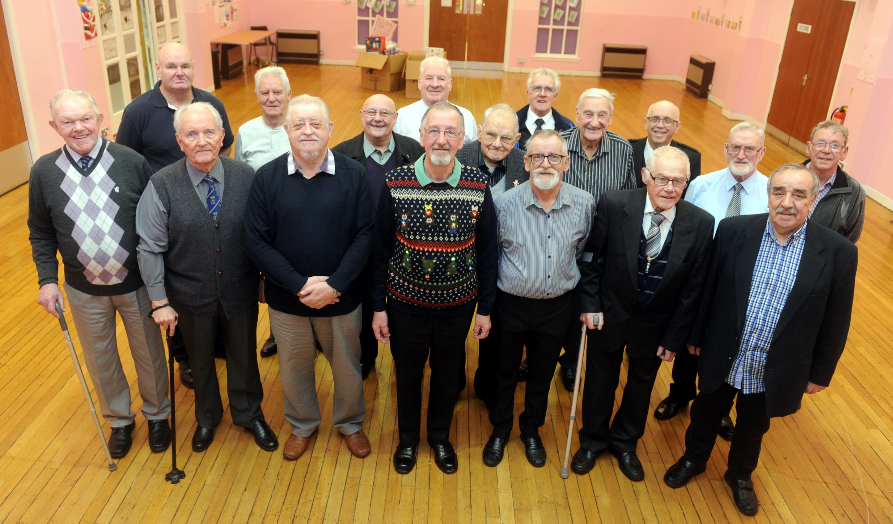 Thankful:  Members of the veterans group at the centre in Mastrick.