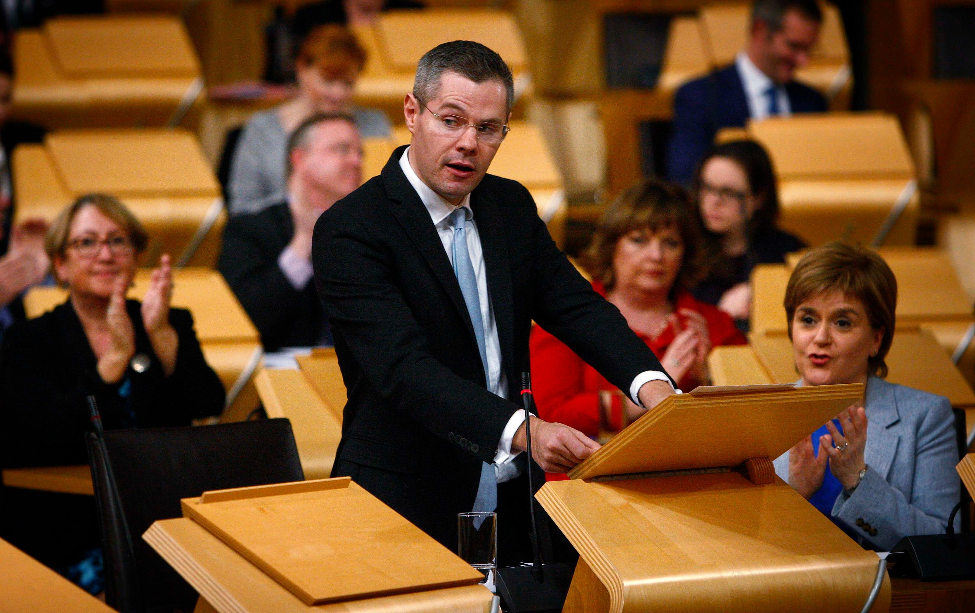 Derek Mackay delivers his budget to the Scottish Parliament.