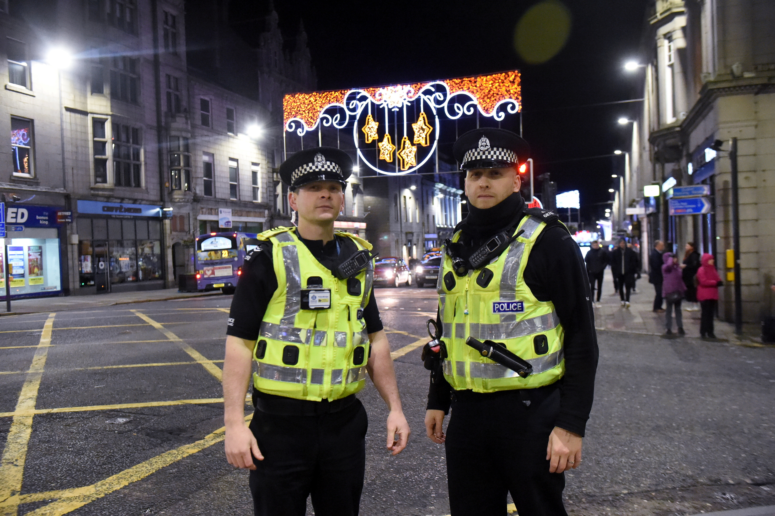 Sergeant Mark Young and Pc Andy Horne on Union Street last year.