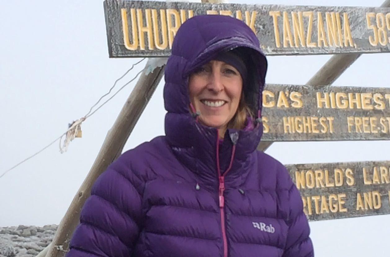 bouncing back:  Founder of BackStrong Adventures Gillian Fowler on Kilimanjaro.