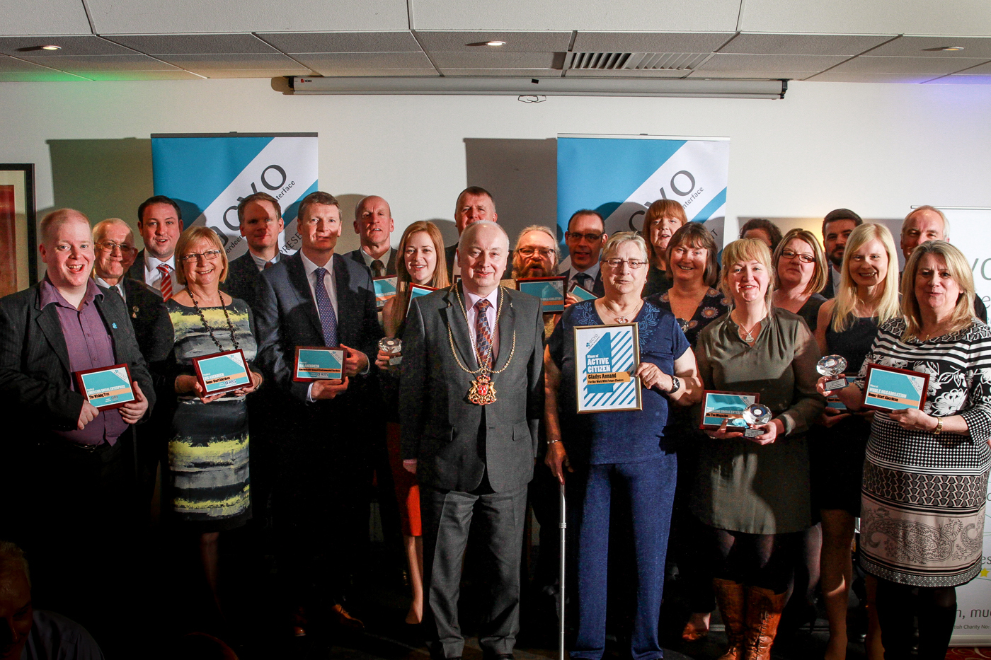 Winners of the ACVO awards as it is revealed volunteer numbers are up.