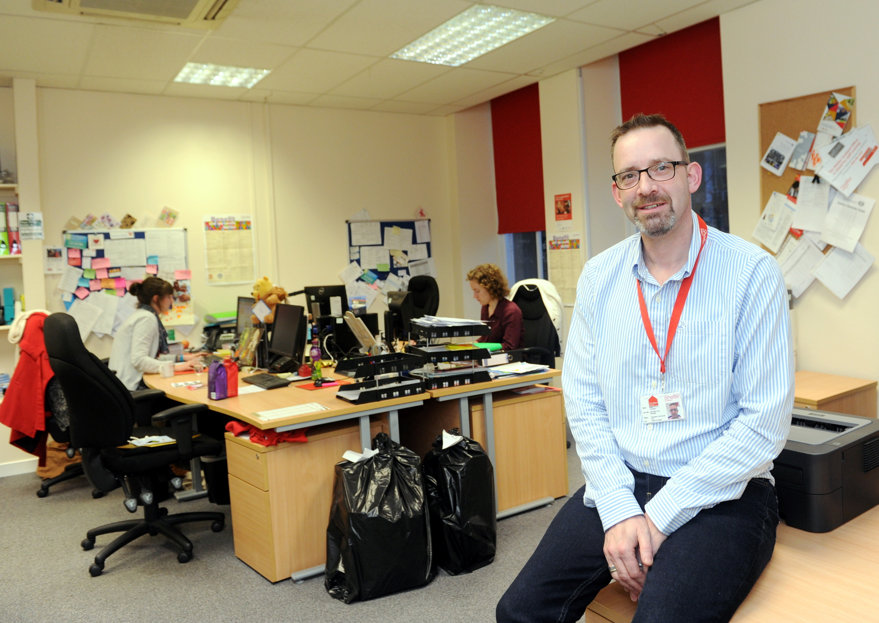 Mark Thomson is the manager of Shelter Scotland's Aberdeen Hub.