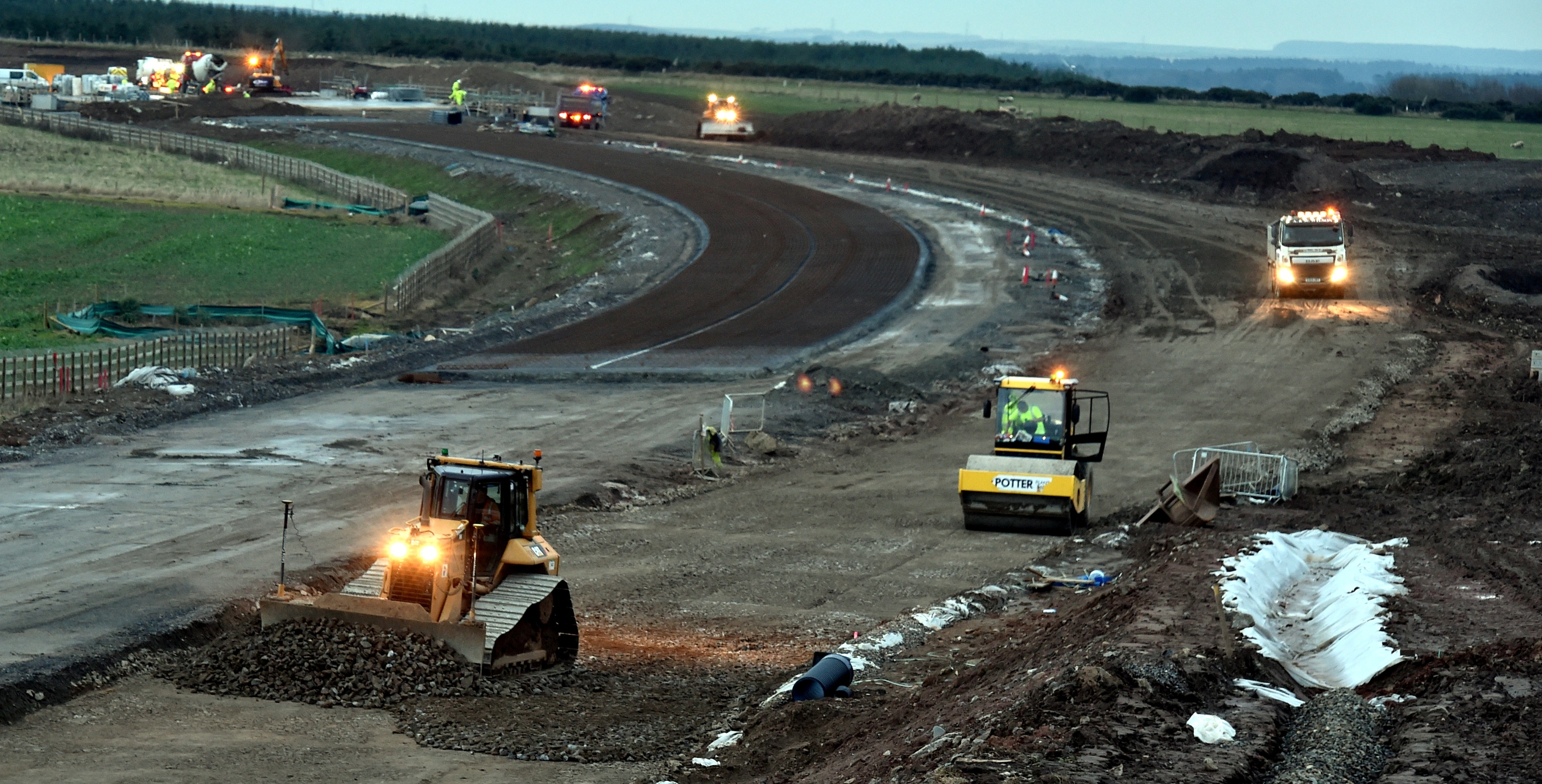 The Balmedie to Tipperty stretch of the AWPR isn't expected to be finished until winter 2017/18.