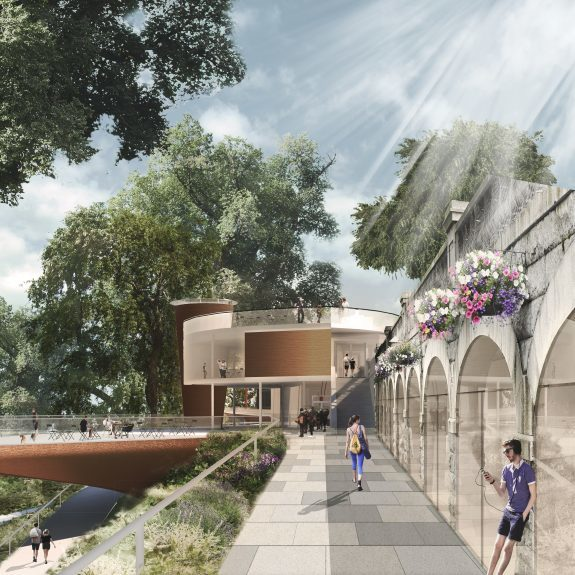 Artist impression of the planned changes to Union Terrace Garden01/12/16