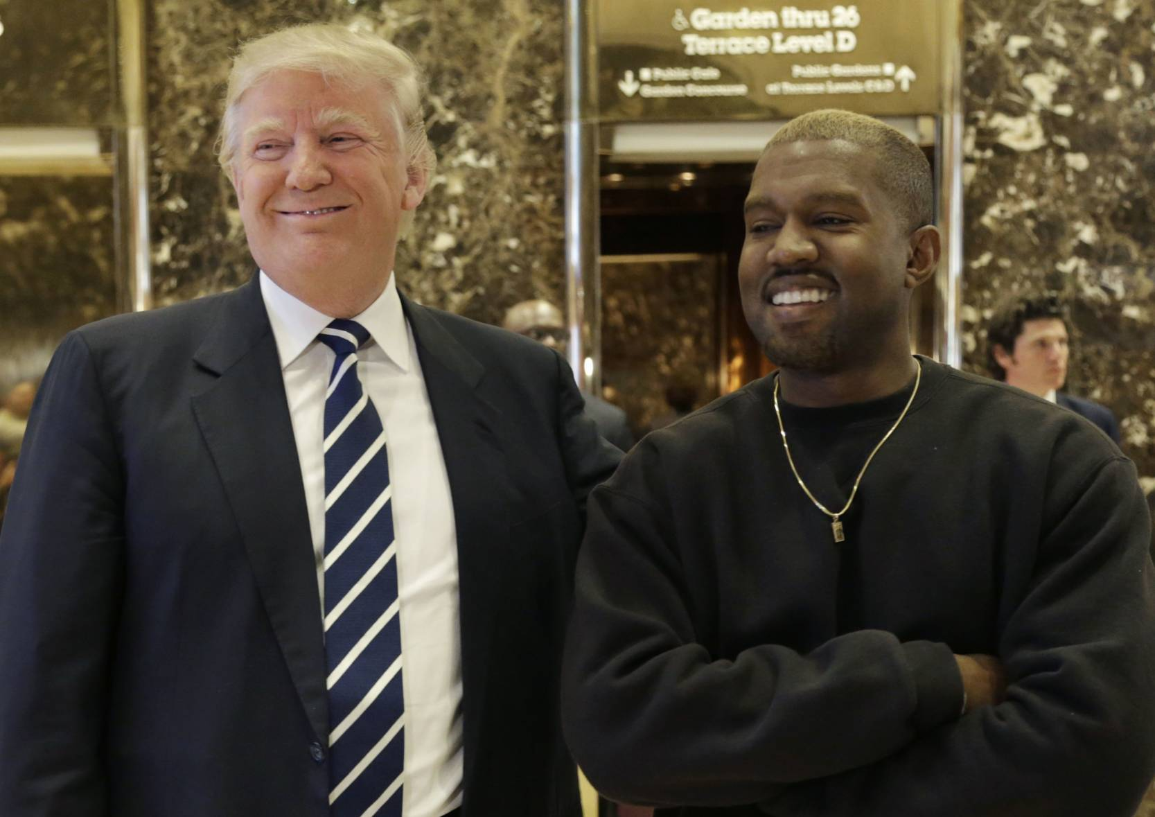 President-elect Donald Trump and Kanye West