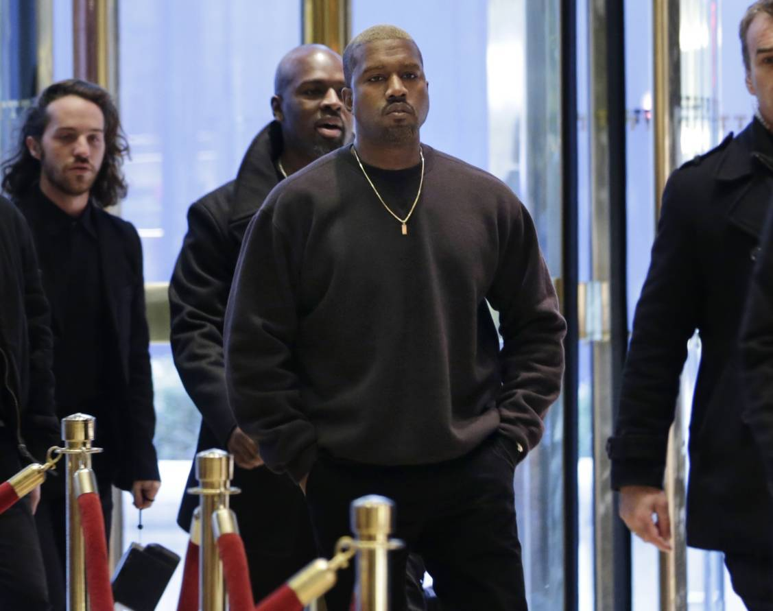 Kanye West enters Trump Tower in New York