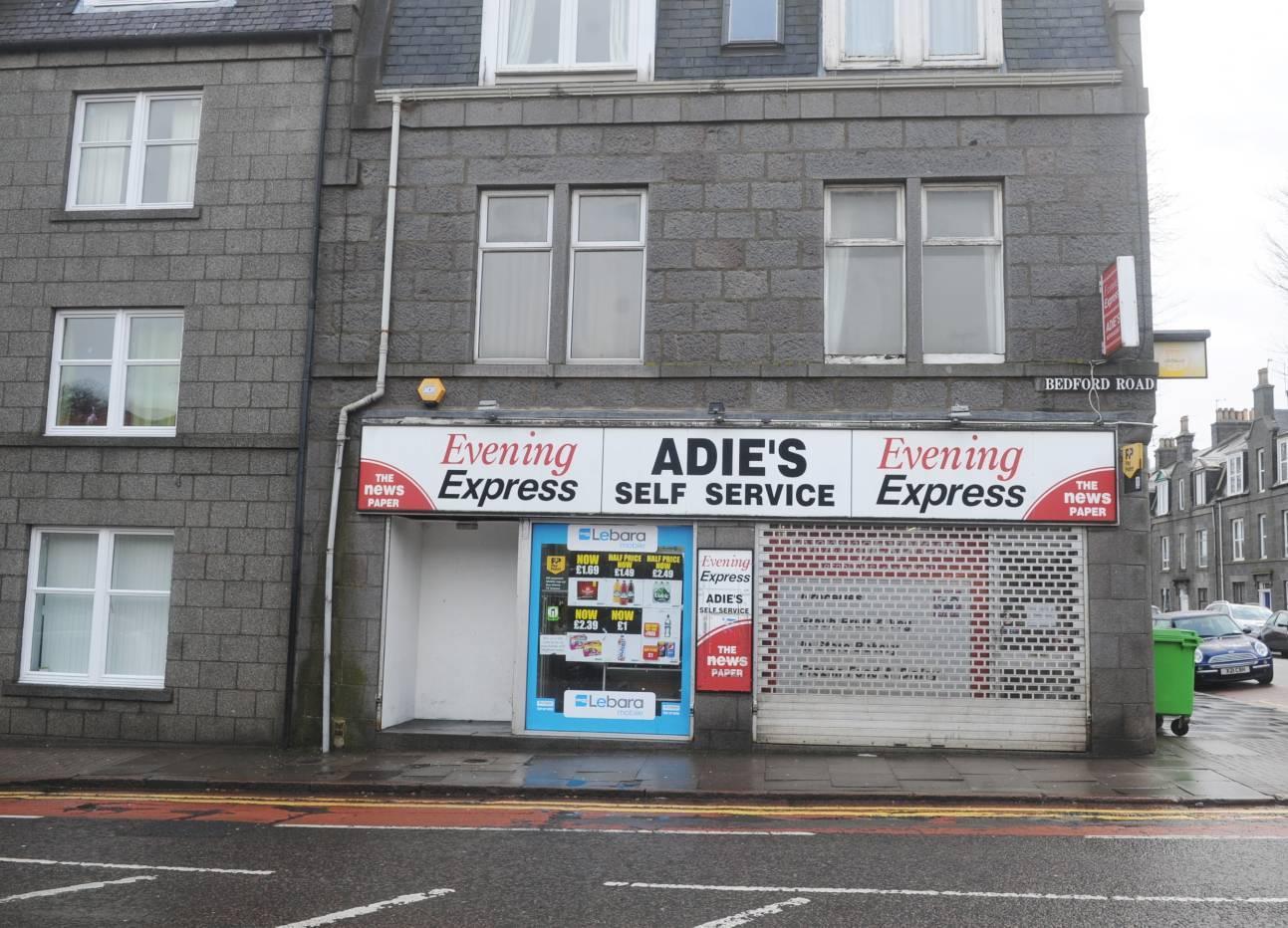 Adie's store, on Bedford Road.