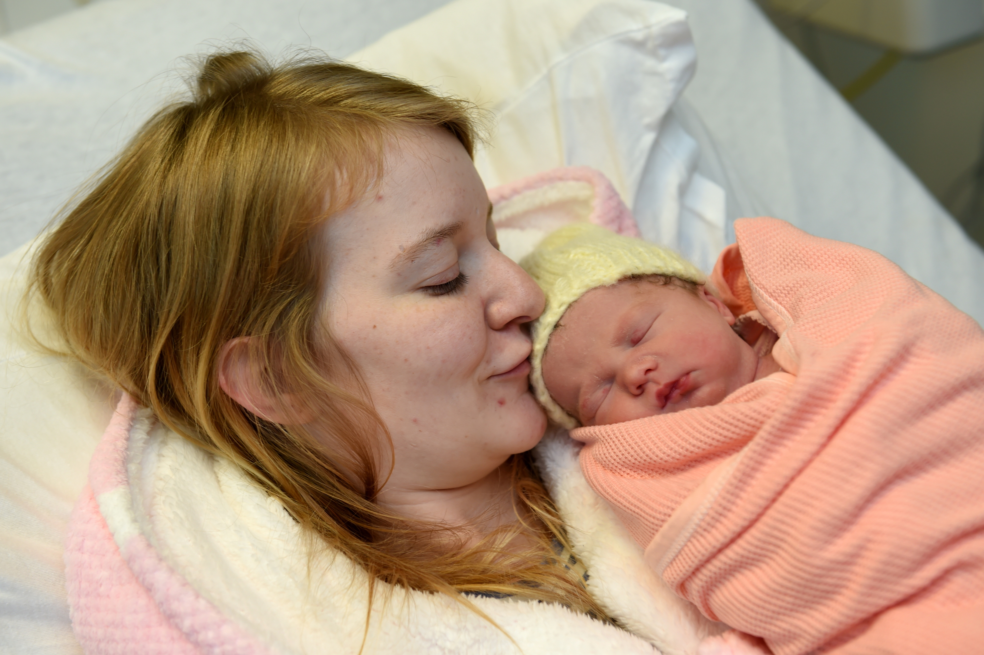 Nicolle Clark and her un-named baby girl.