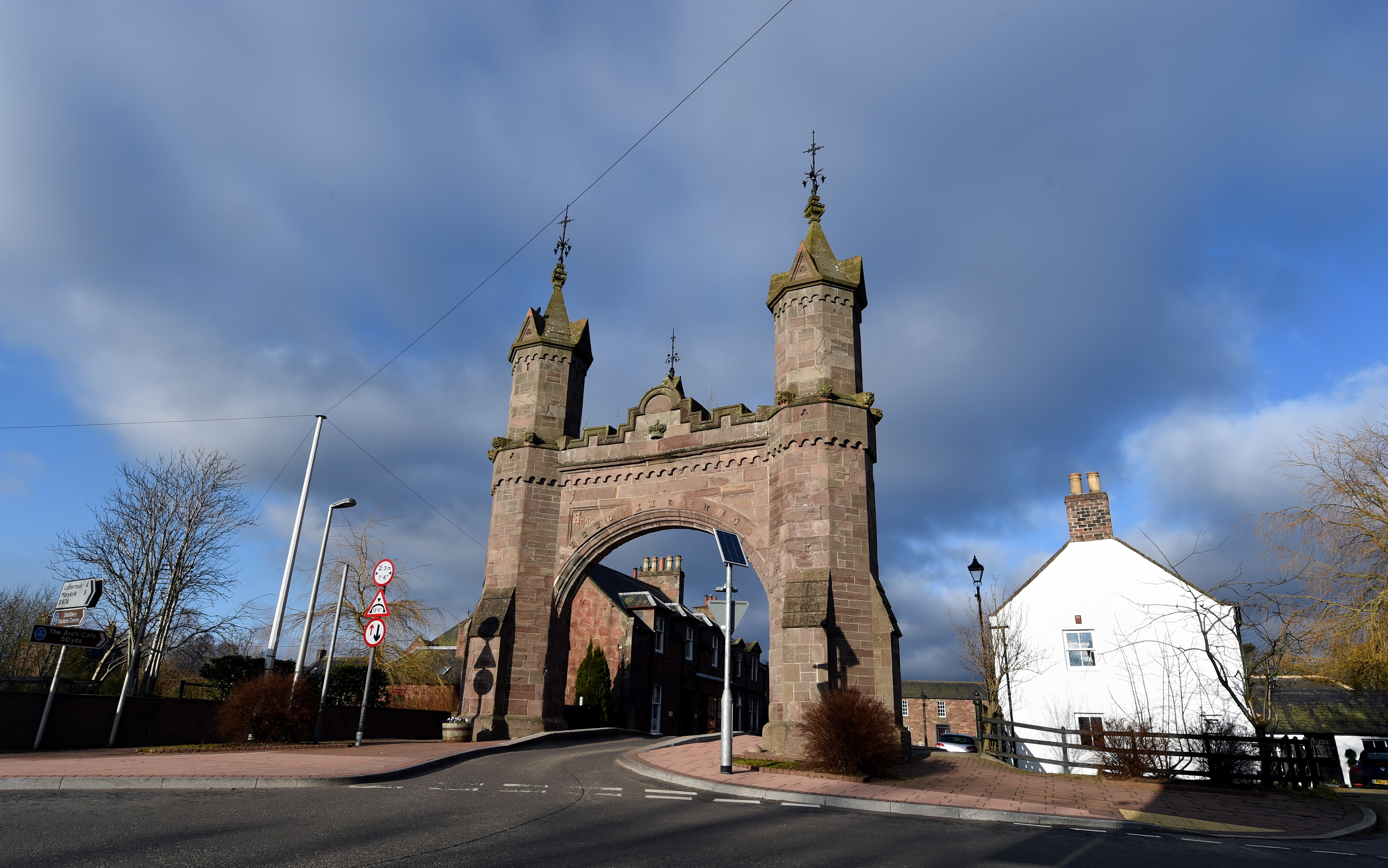 The Royal Arch in Fettercairn was built in 1864 following a royal visit.