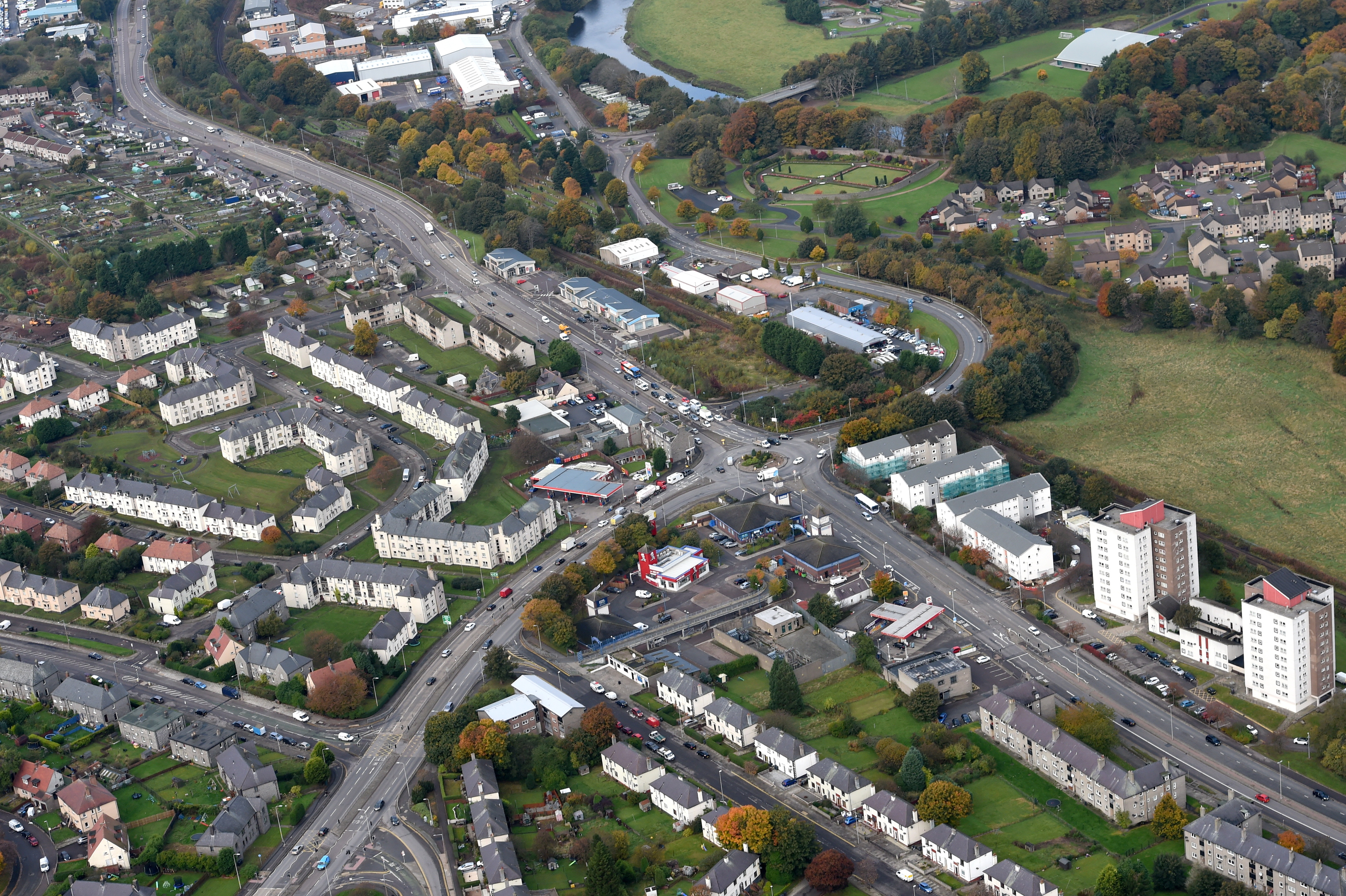 Haudagain Roundabout.  Picture by hjs helicopters