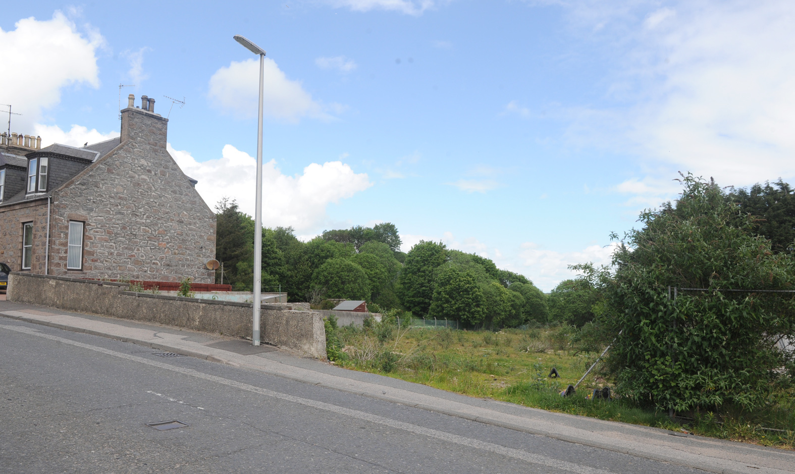The site of the proposed homes development on Aberdeen's  Mugiemoss Road.
