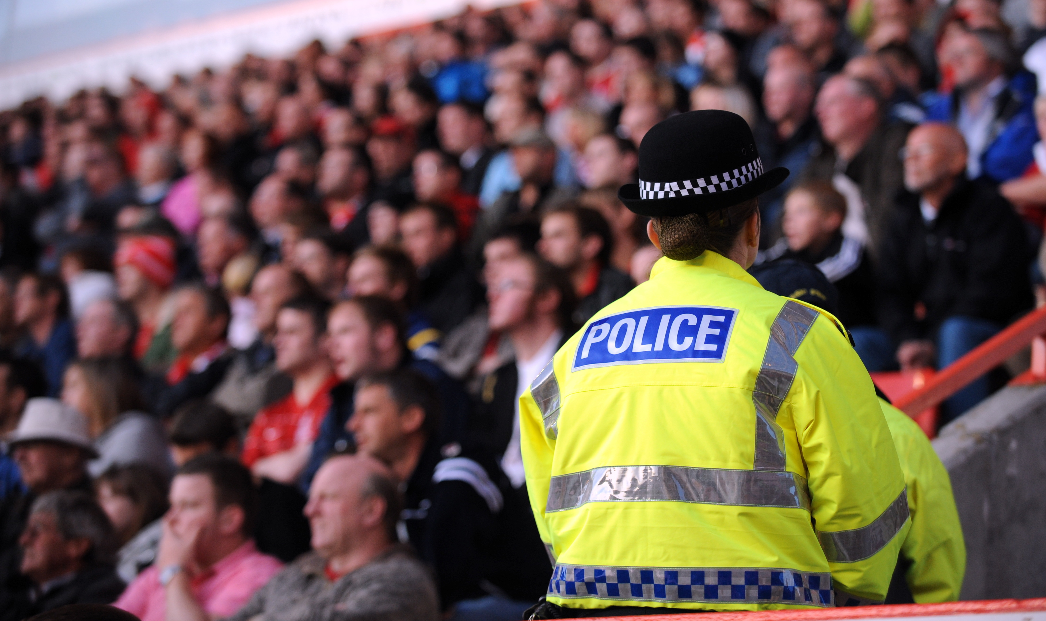 Police at a Dons match.