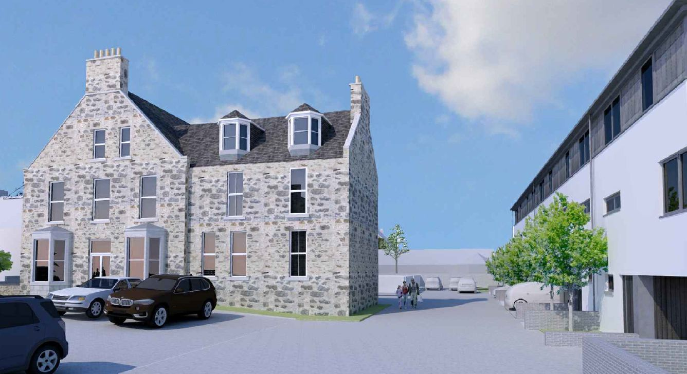 An artist's impression of the hotel and annexe at Newburgh.