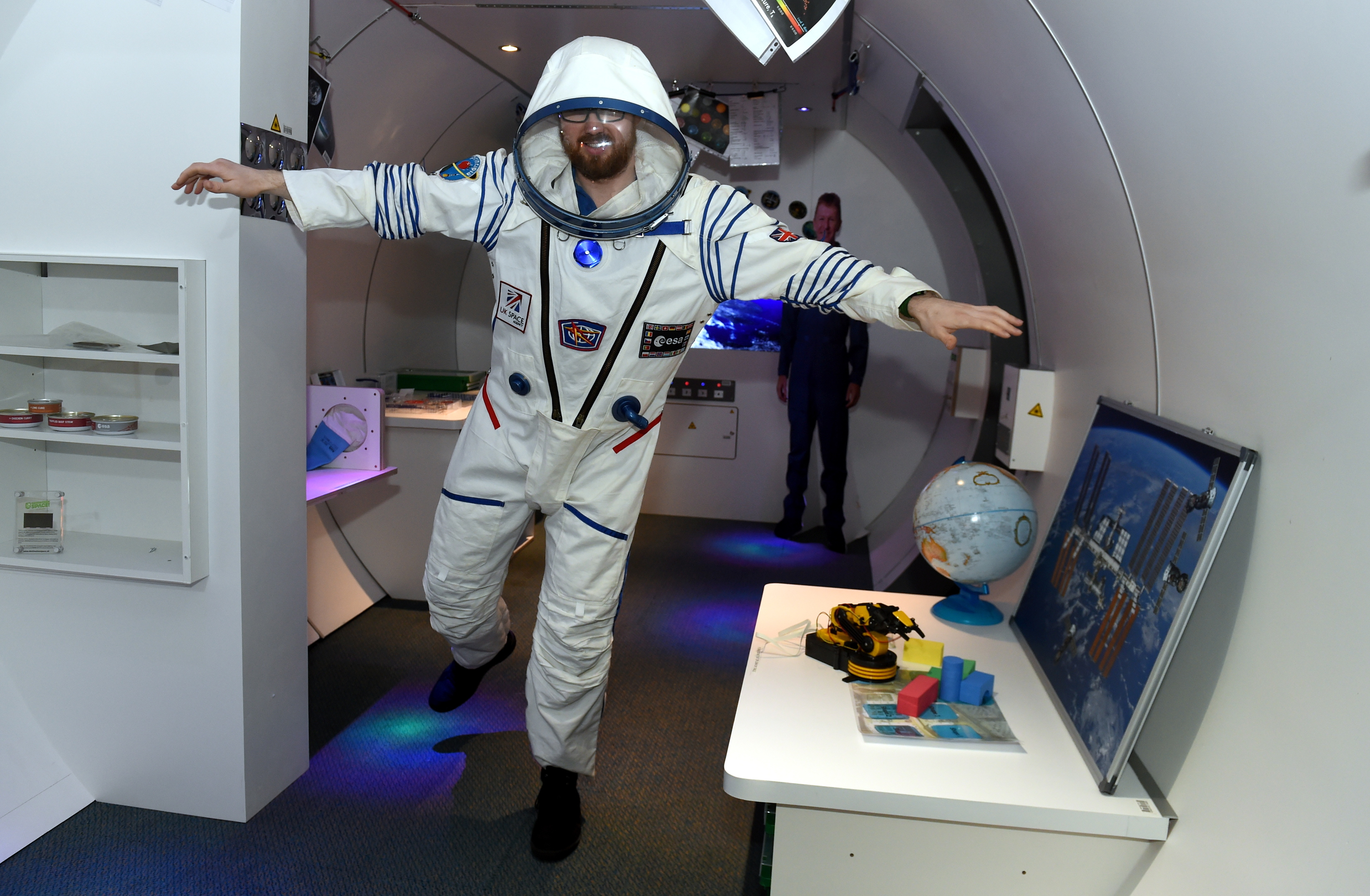 Out of this world:   Andrew McDonald, senior Stem communicator  at the centre, enjoying the new exhibition.