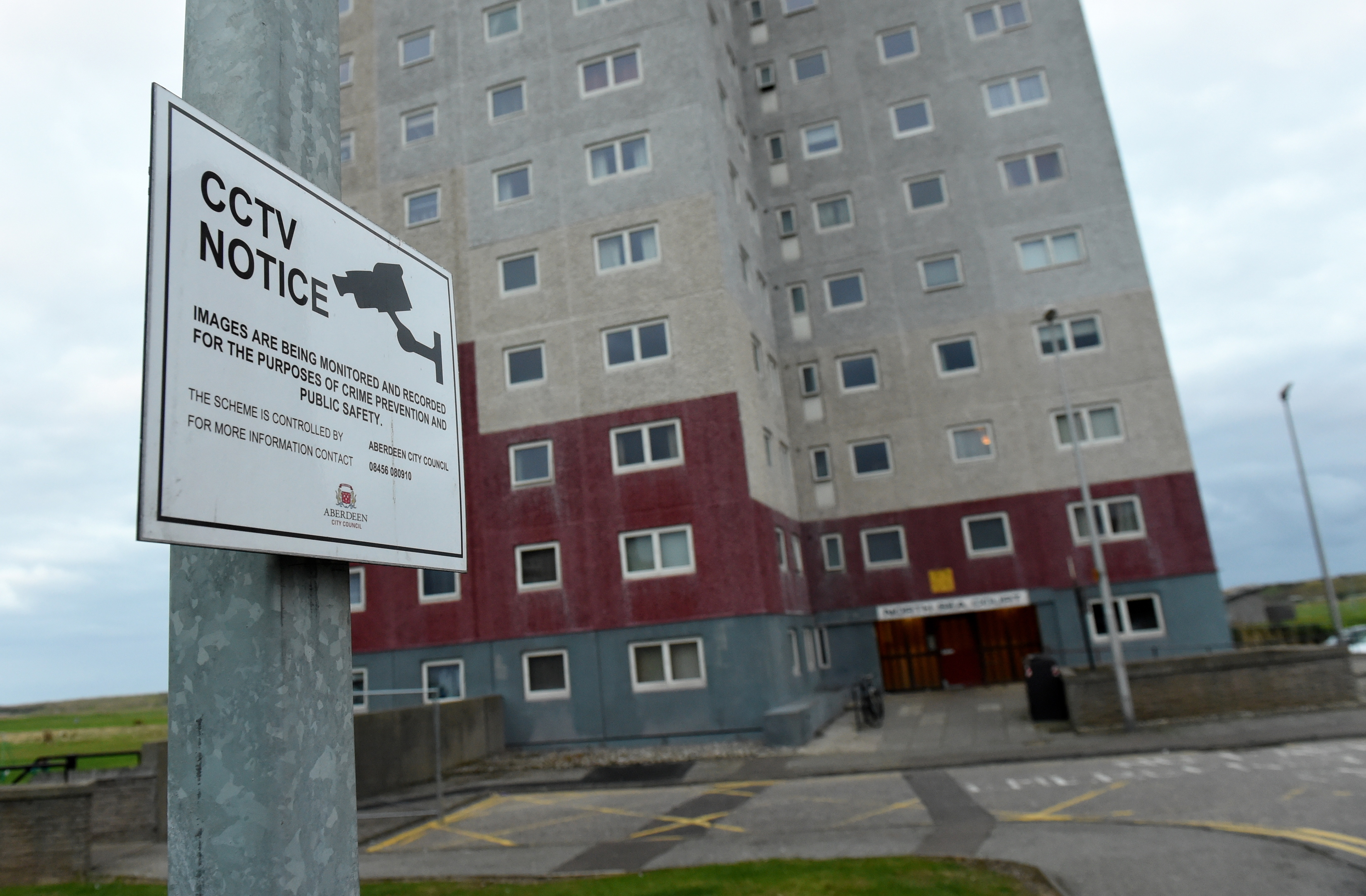 positive:North Sea Court in Seaton where CCTV cameras have improved antisocial behaviour.