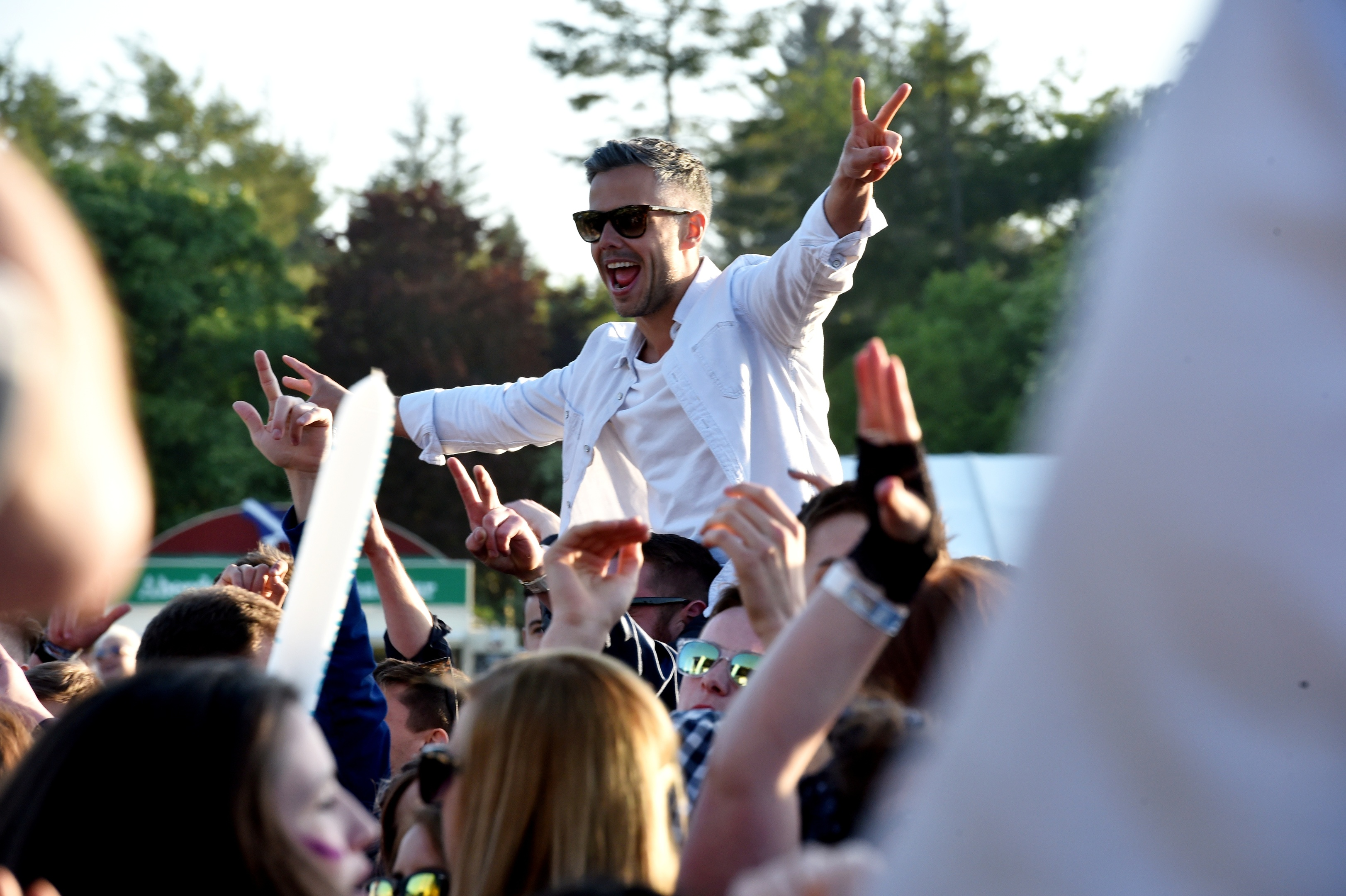 Fans have a great time at the Enjoy Music Festival in Hazlehead Park.