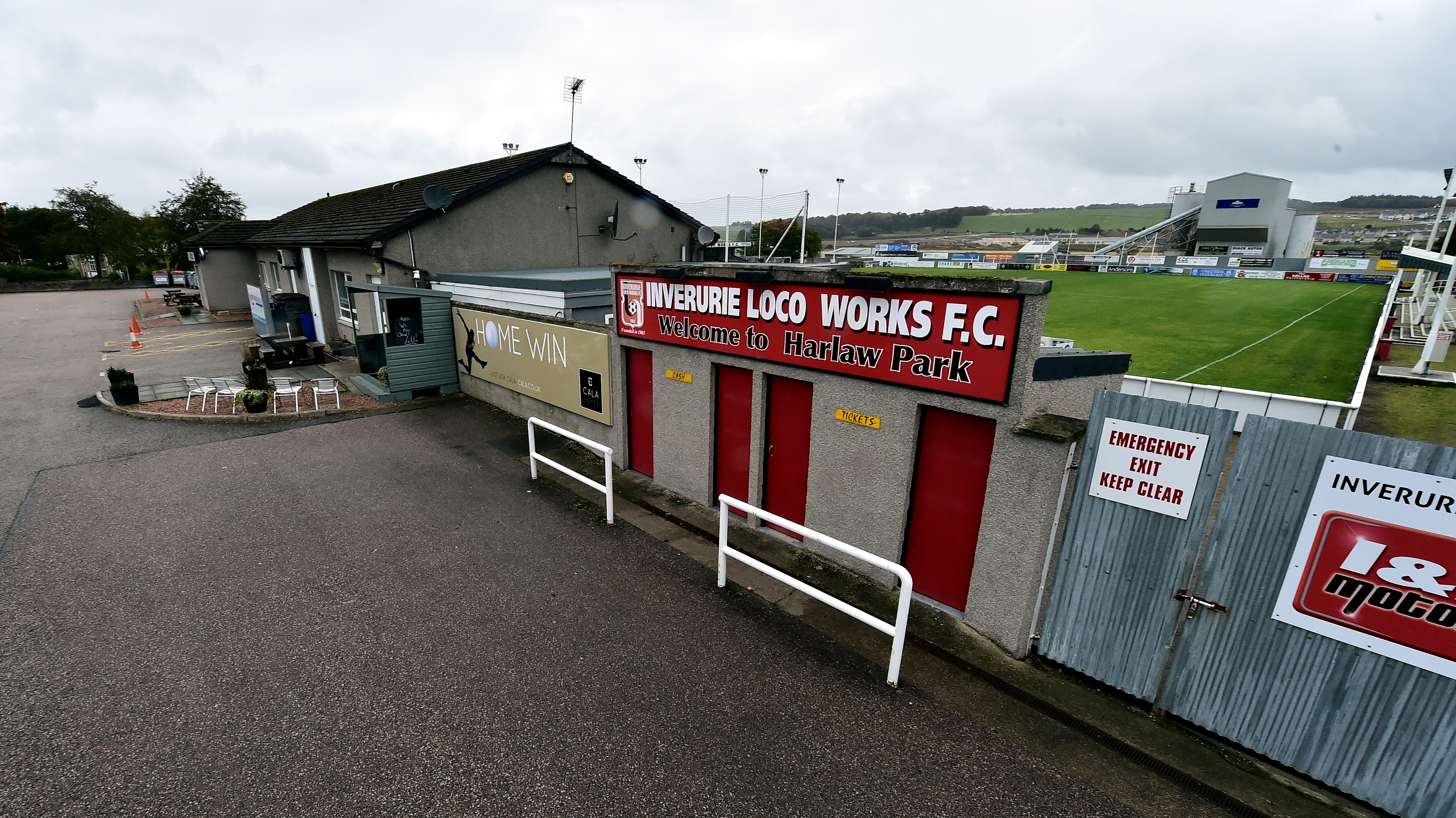 Harlaw Park is home to Highland League side Inverurie Locos.