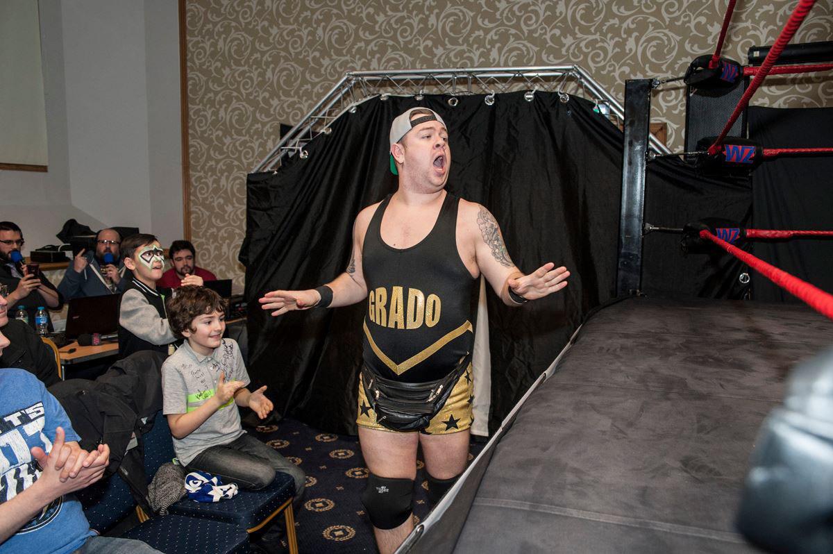 Scottish wrestler Grado. Picture by Dod Morrison